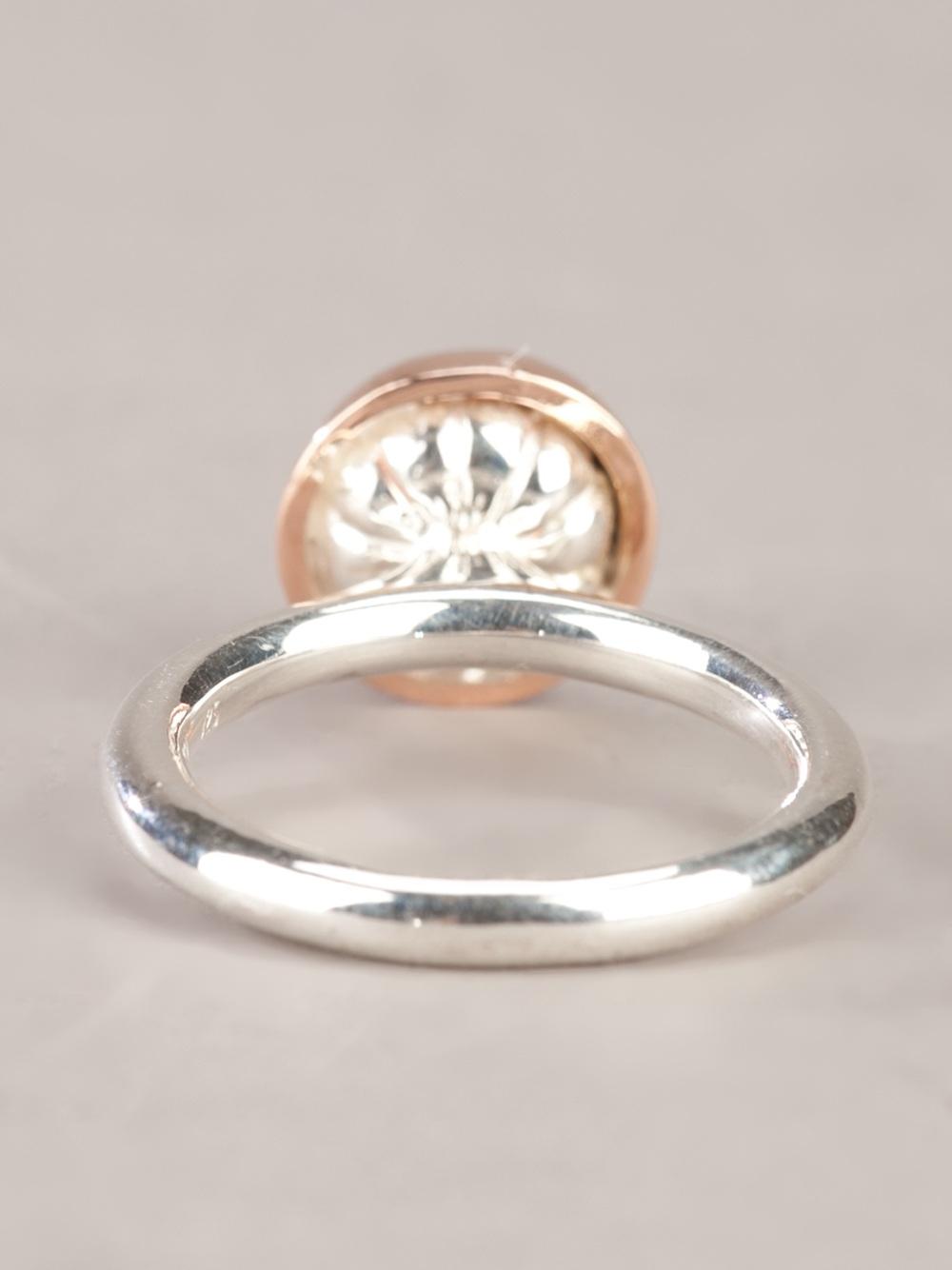 Lyst Rosa Maria Sandra Ring In Metallic