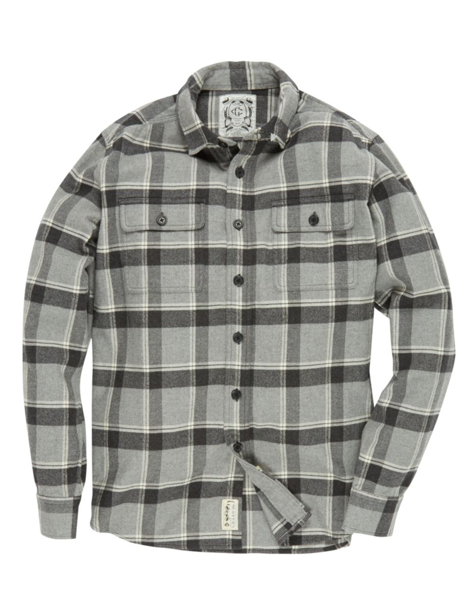 Grayers heritage plaid flannel shirt in gray for men for Grey plaid shirt womens
