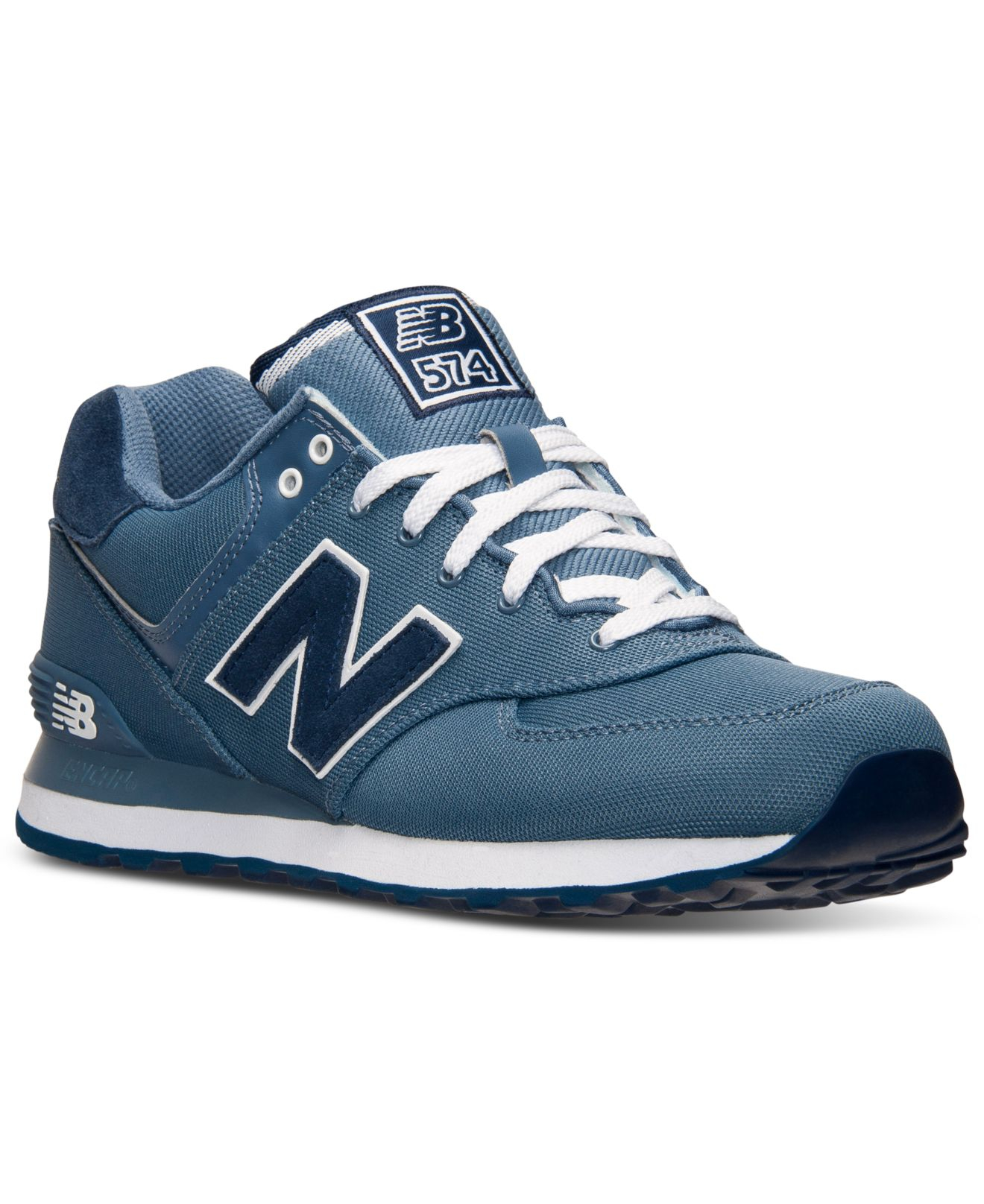 5bfbccc57e ... authentic lyst new balance mens 574 pique polo casual sneakers from  finish 4e40d e4c9e