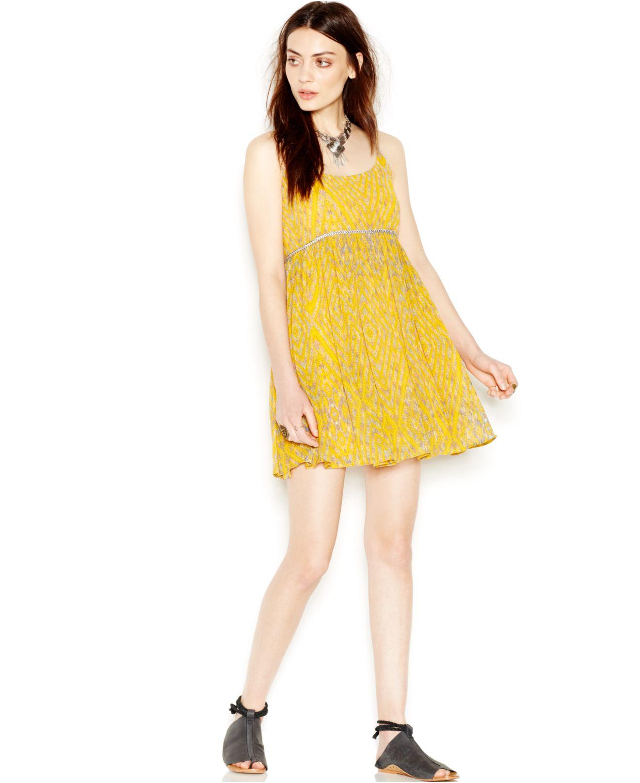 Yellow Babydoll Dress