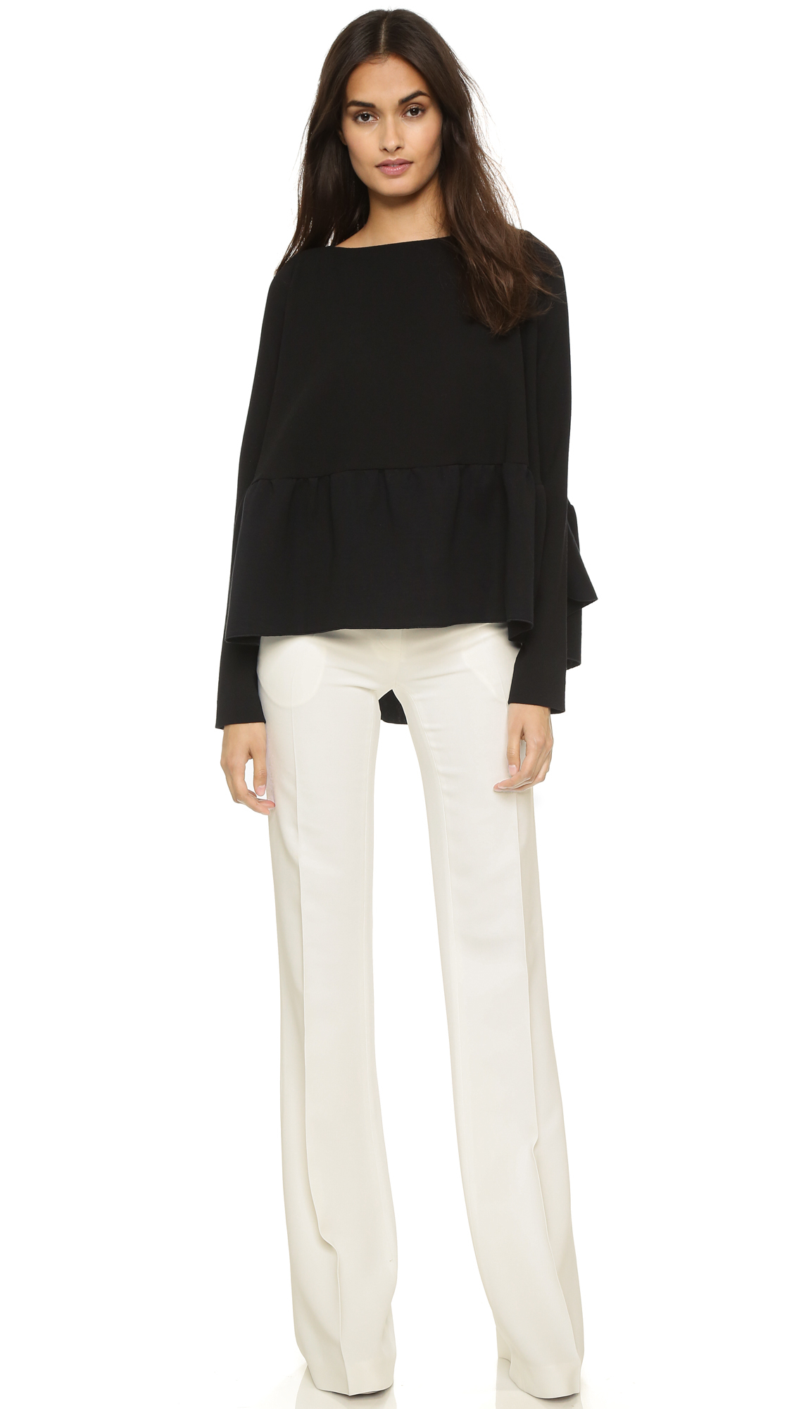 off white wide leg pants | Gommap Blog