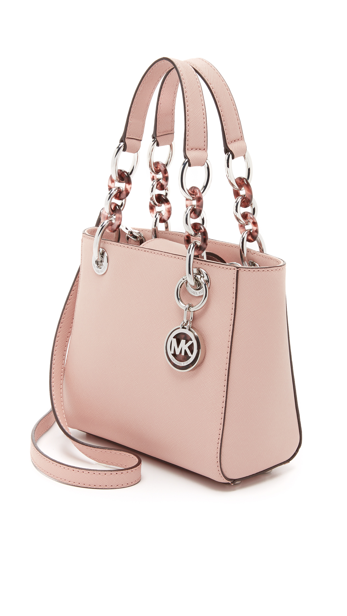 michael michael kors cynthia extra small satchel ballet in pink lyst. Black Bedroom Furniture Sets. Home Design Ideas