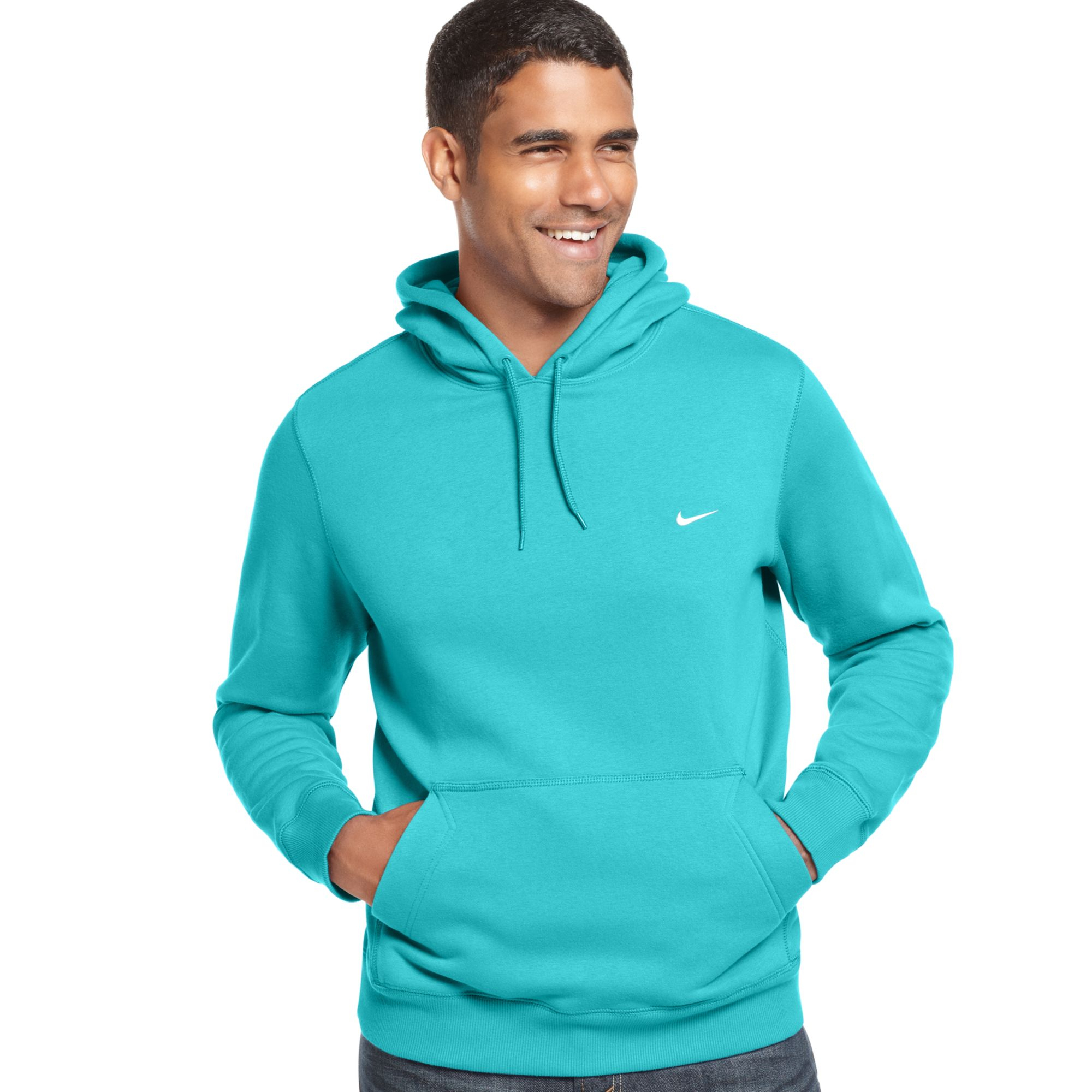 nike classic pullover fleece hoodie in blue for men lyst. Black Bedroom Furniture Sets. Home Design Ideas