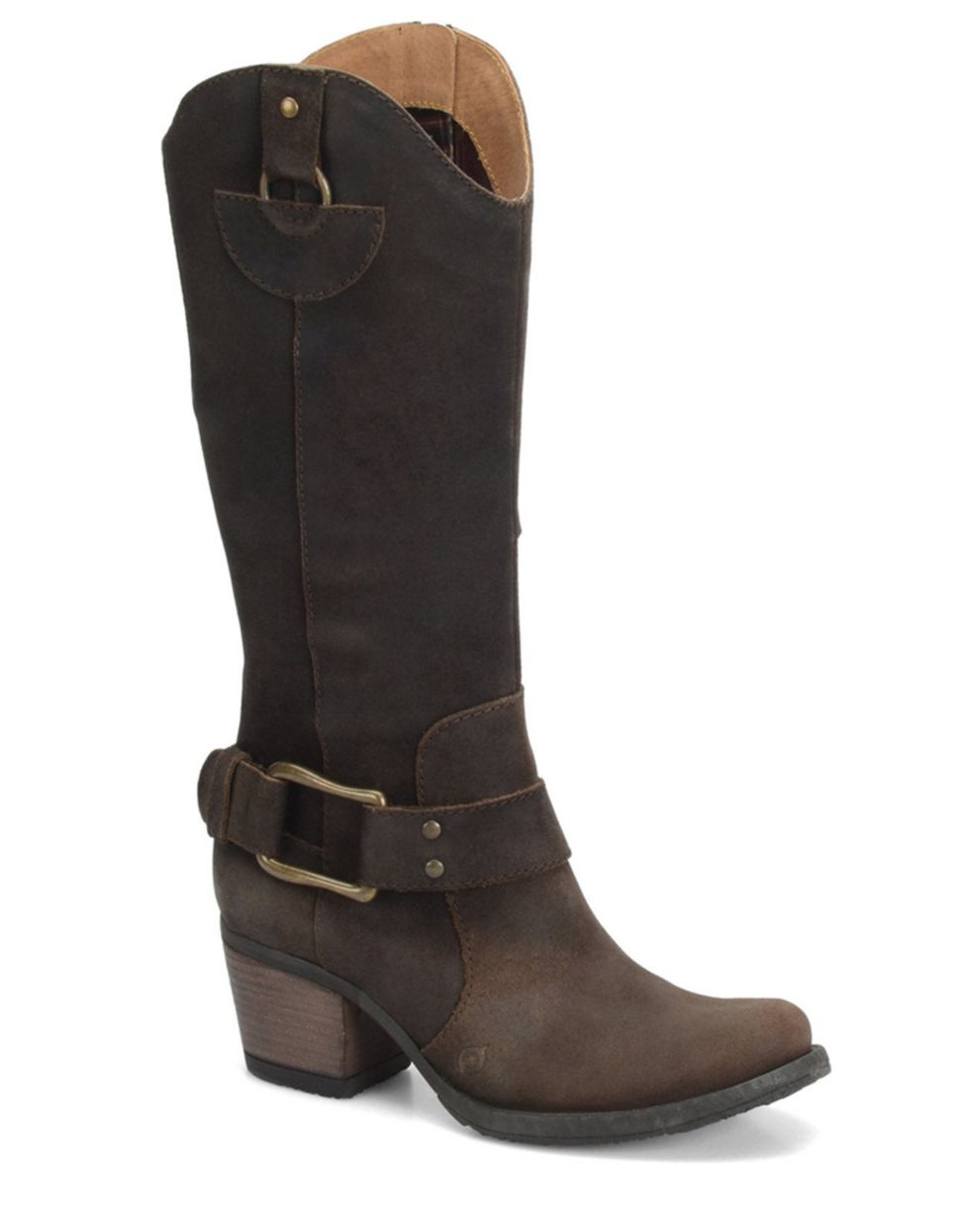 born loreza leather heeled boots in brown brown lyst