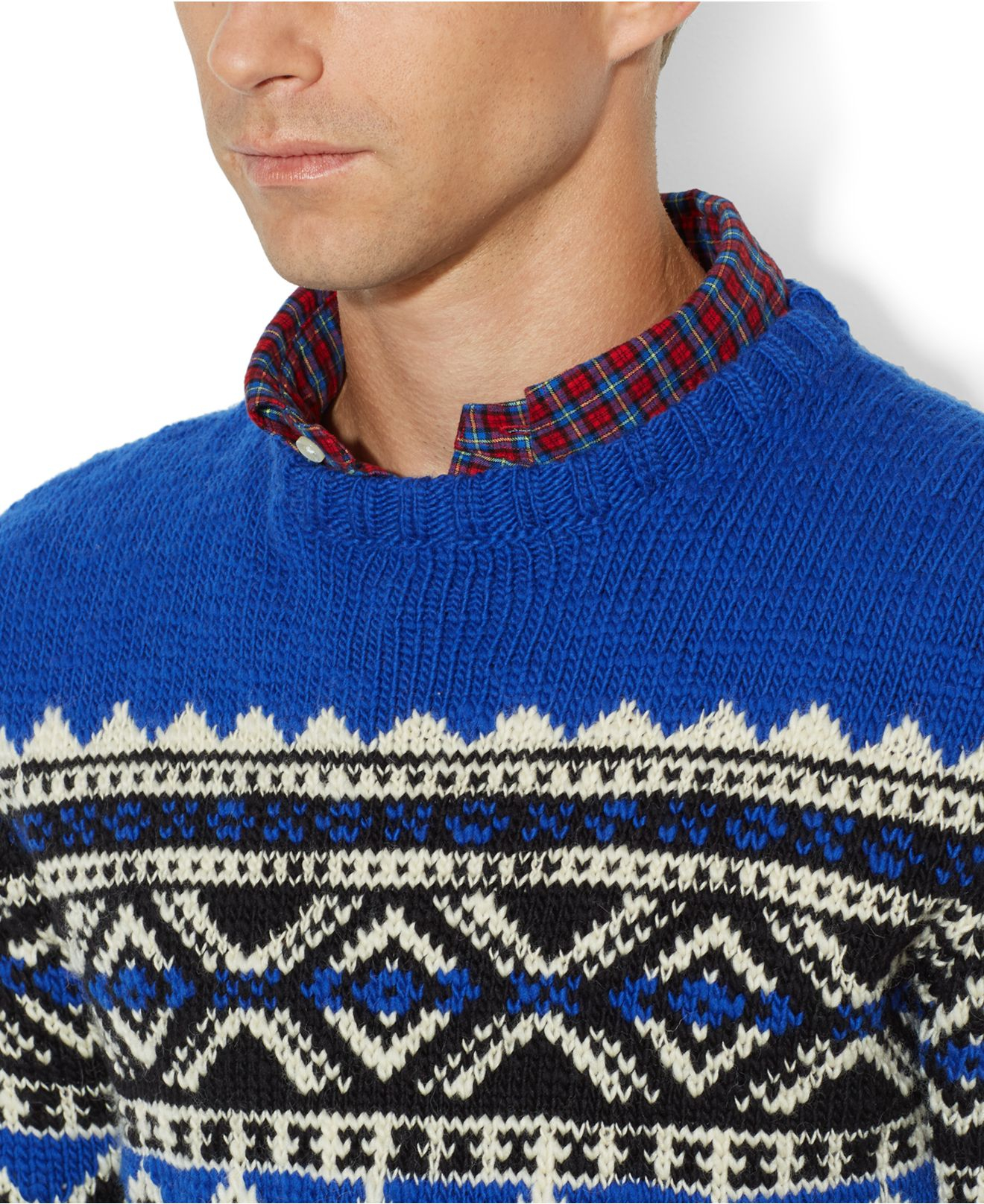 35a4778124606 Lyst - Polo Ralph Lauren Nordic-Print Sweater in Blue for Men