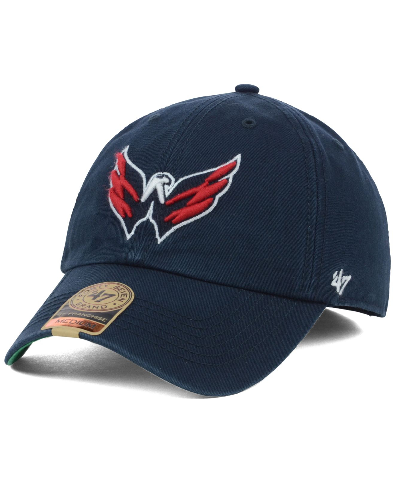 d792c6a8b8d ... cheap low cost lyst 47 brand washington capitals franchise cap in blue  for men 49783 49463