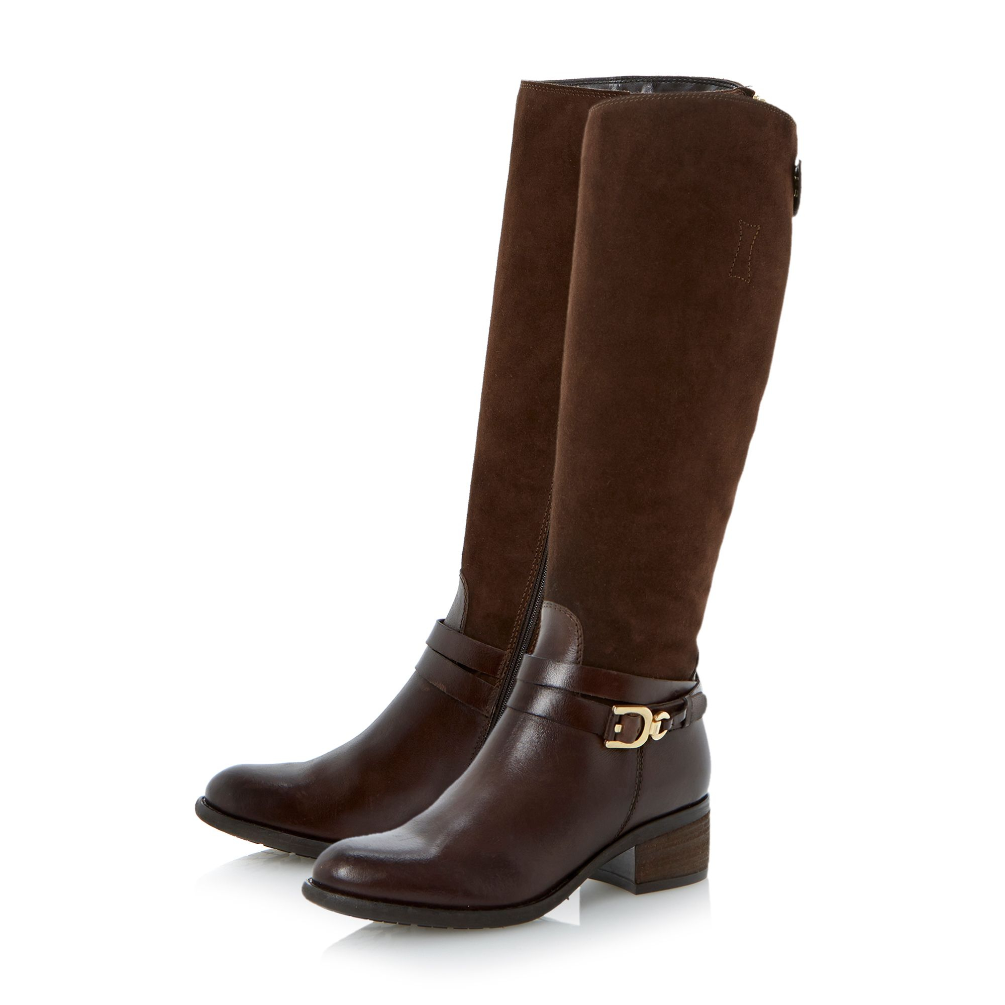 dune tina knee high boots in brown lyst
