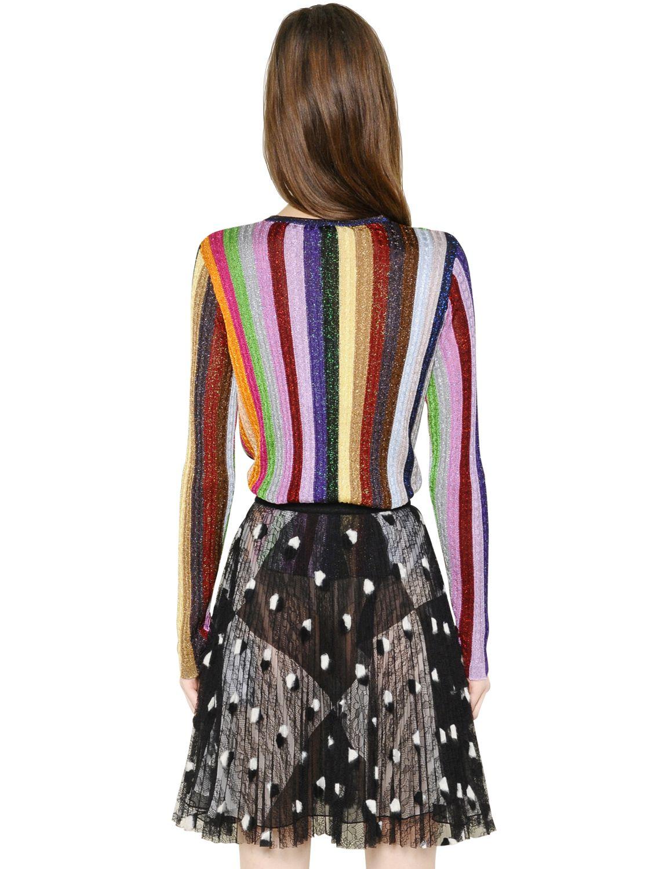Marco Vincenzo Sweater Multicolore De Striped Z1ZwqA
