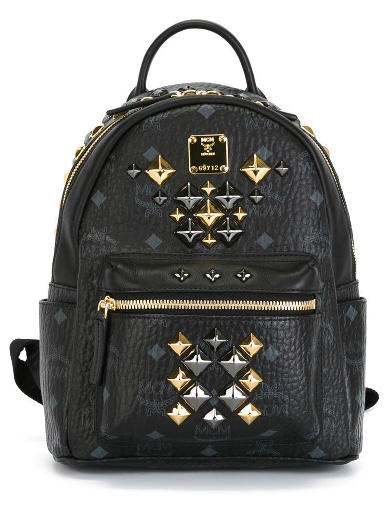 Lyst Mcm Mini Stark Brock Backpack In Black