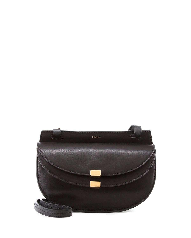 chloe hand bag - Chlo�� Georgia Mini Leather Cross-Body Bag in Black | Lyst