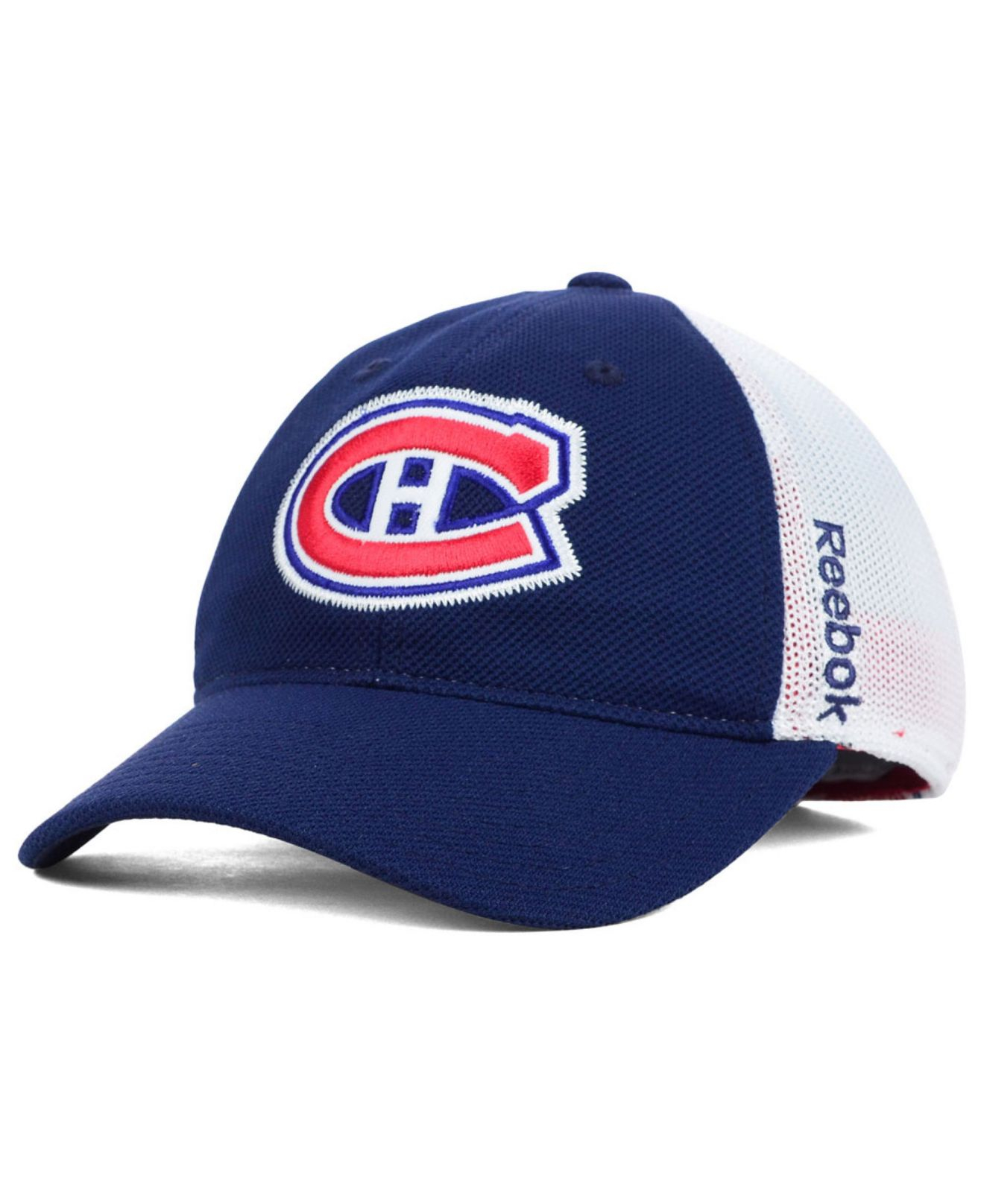 4be67fa5427 Lyst - Reebok Montreal Canadiens Stretch-Fit Cap in Blue for Men