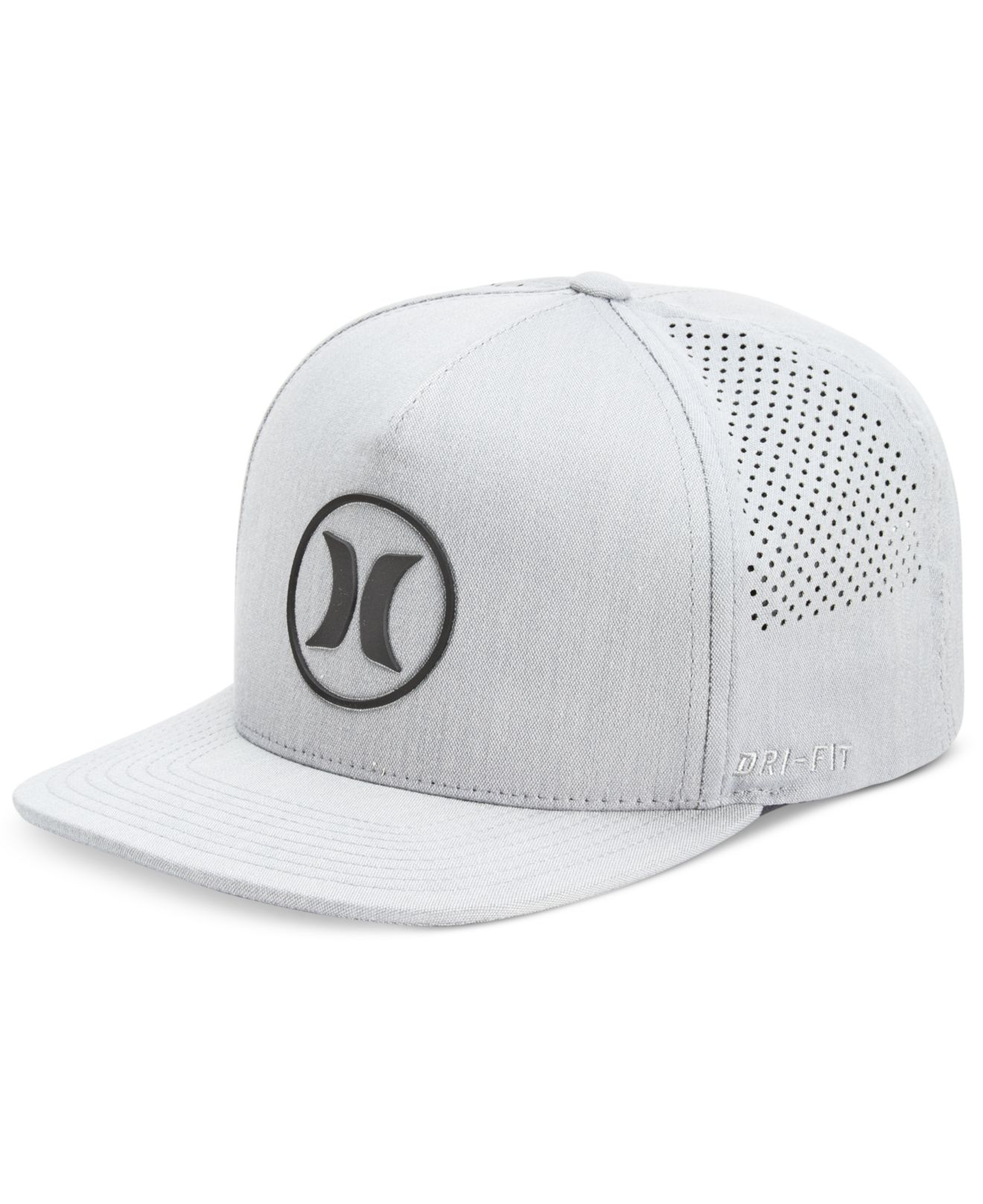 a5dbf8897a8 ... norway lyst hurley mens dri fit icon 2.0 perforated logo hat in gray  for men d8b1d