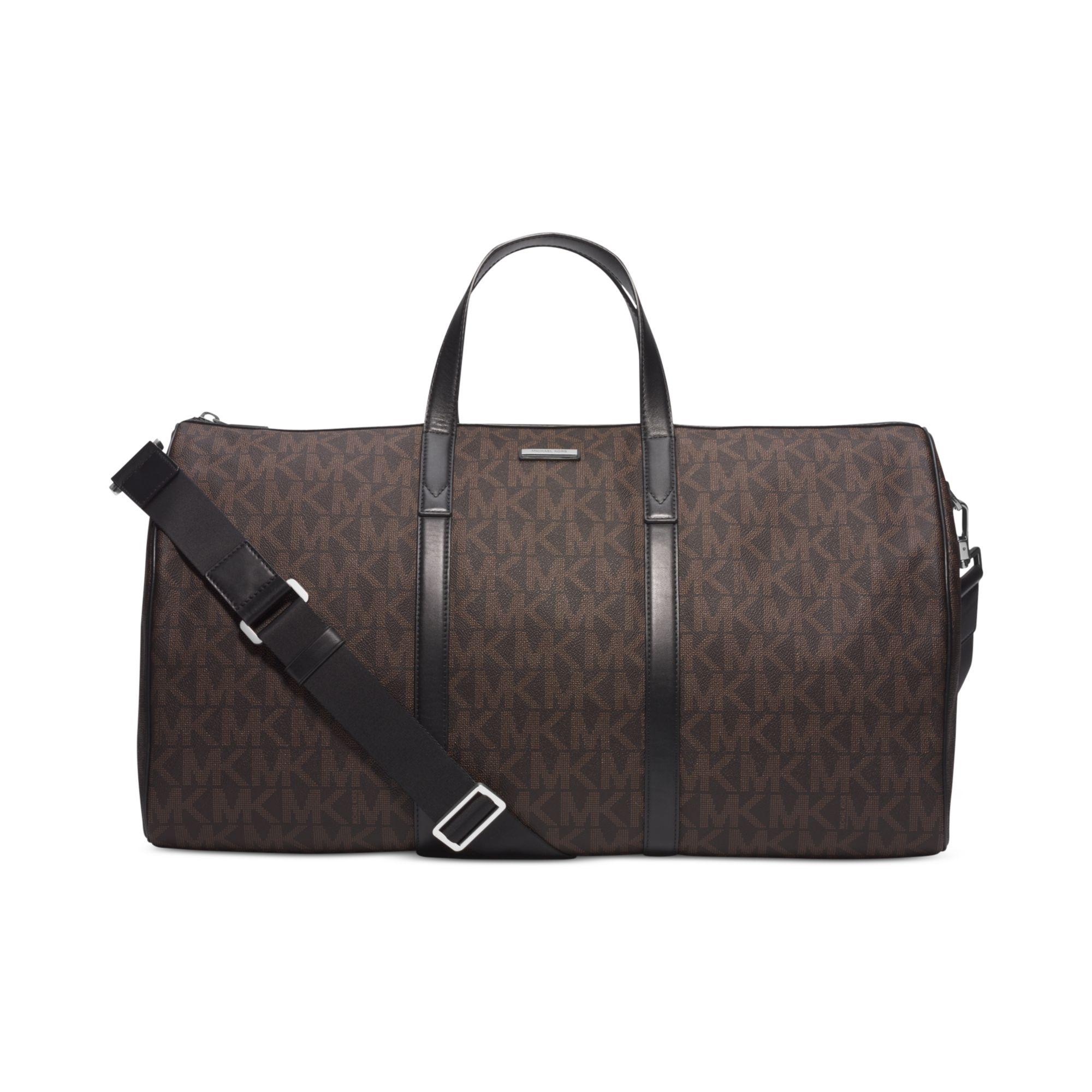 898038ef88fef5 Michael Kors Signature Logo Jet Set Travel Duffle Bag in Brown for ...