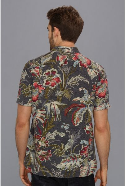 Tommy bahama island modern fit laurel floral camp shirt in for Tommy bahama christmas shirt 2014