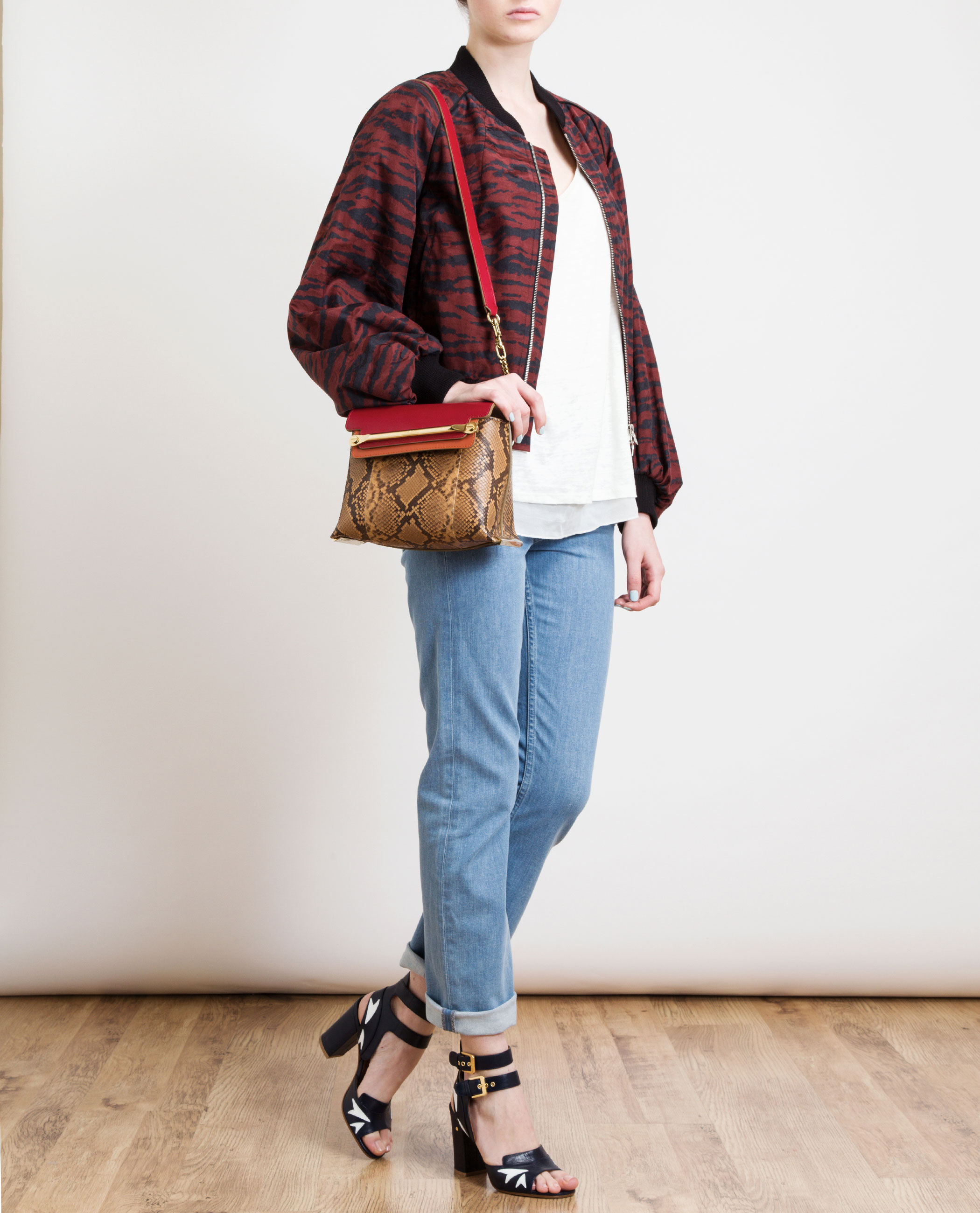 Chlo¨¦ Clare Contrasting Python Handbag in Multicolor | Lyst