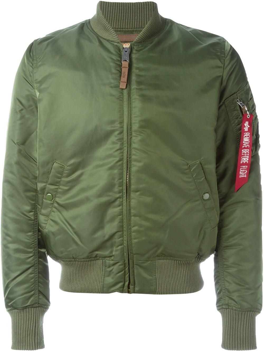 alpha industries 39 ma 1 39 flight jacket in green for men lyst. Black Bedroom Furniture Sets. Home Design Ideas