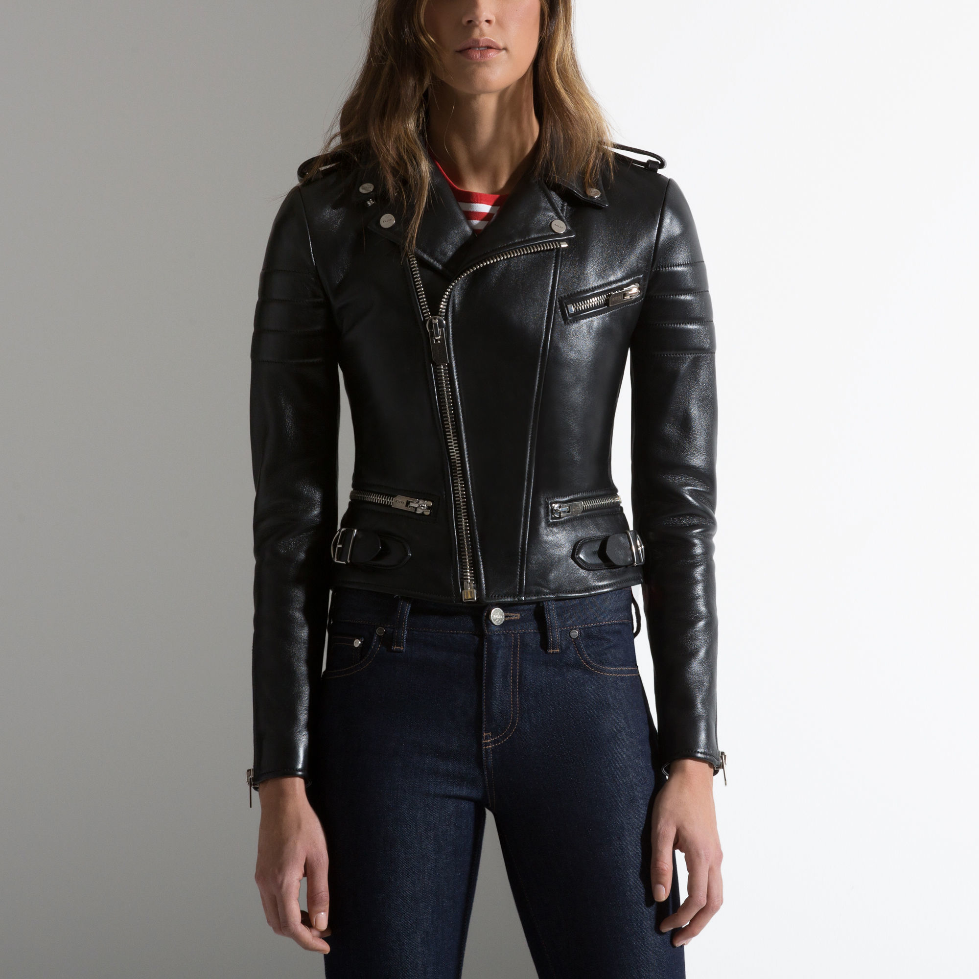 Lyst Bally Nappa Leather Jacket