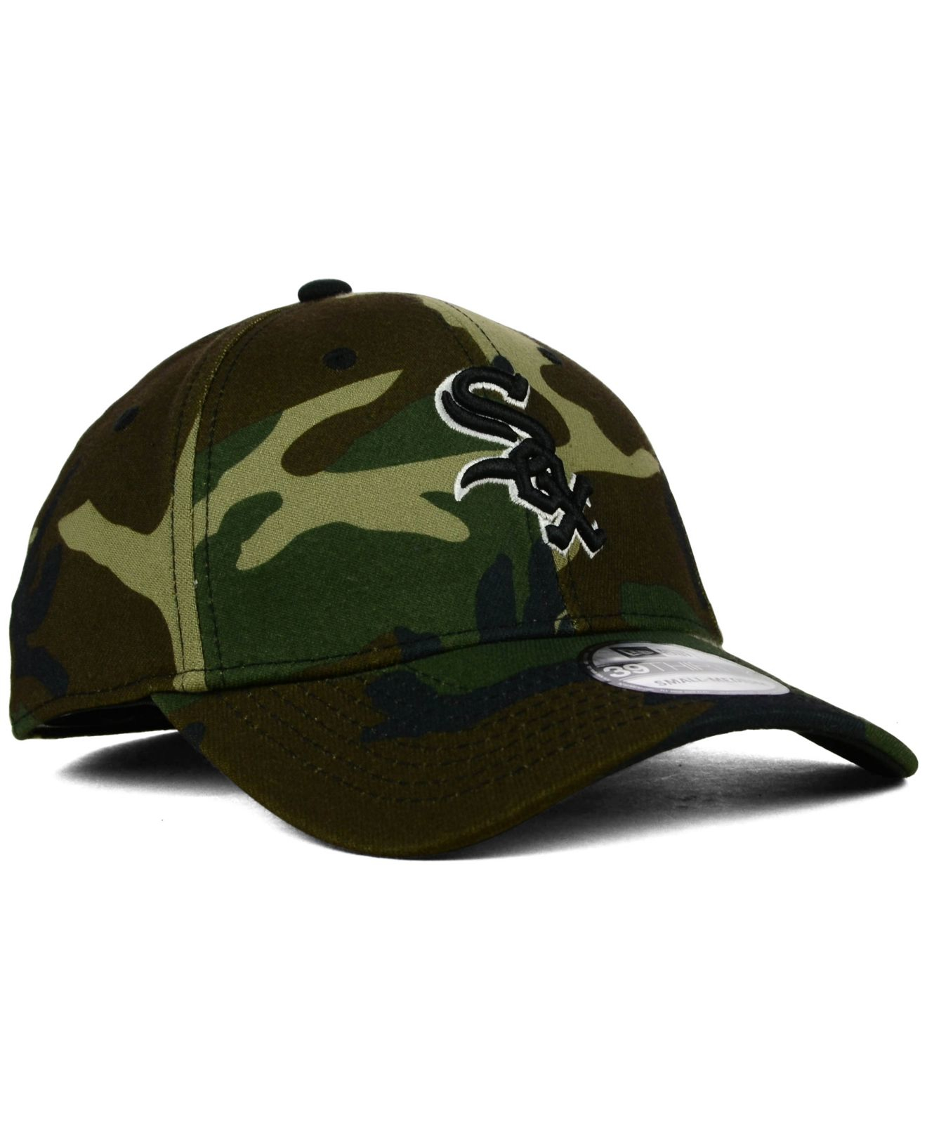watch c35c0 a6028 KTZ Chicago White Sox Camo Classic 39thirty Cap in Black for Men - Lyst