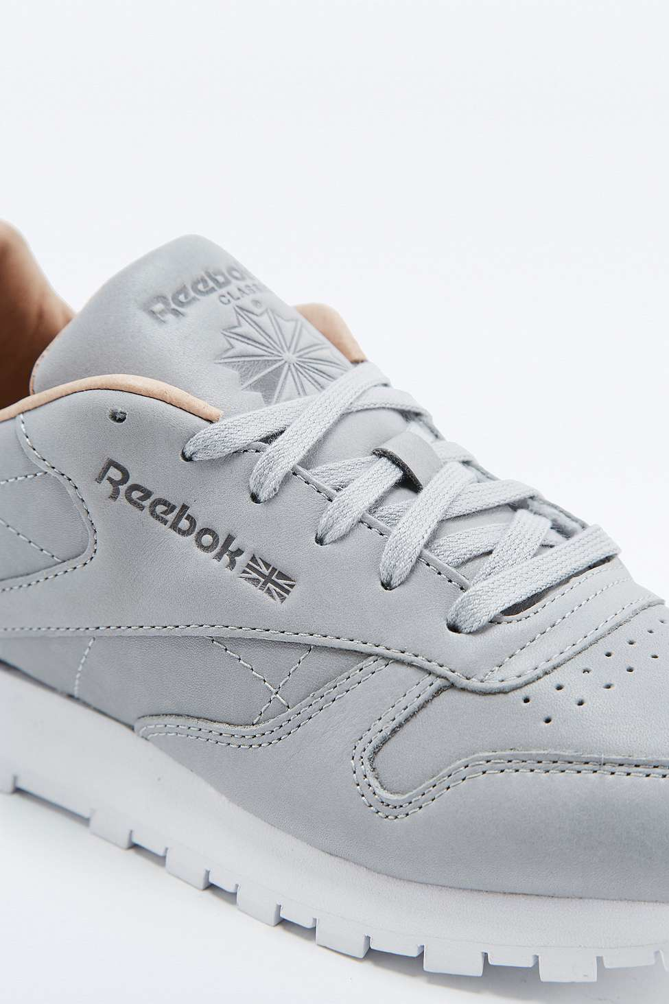 ca423856b93 Reebok Classic Premium Grey Trainers in Gray - Lyst