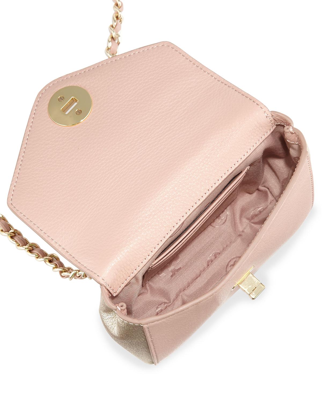 9cf1efe71da3 Lyst - Tory Burch Kira Mini Chain-Strap Crossbody Bag in Pink