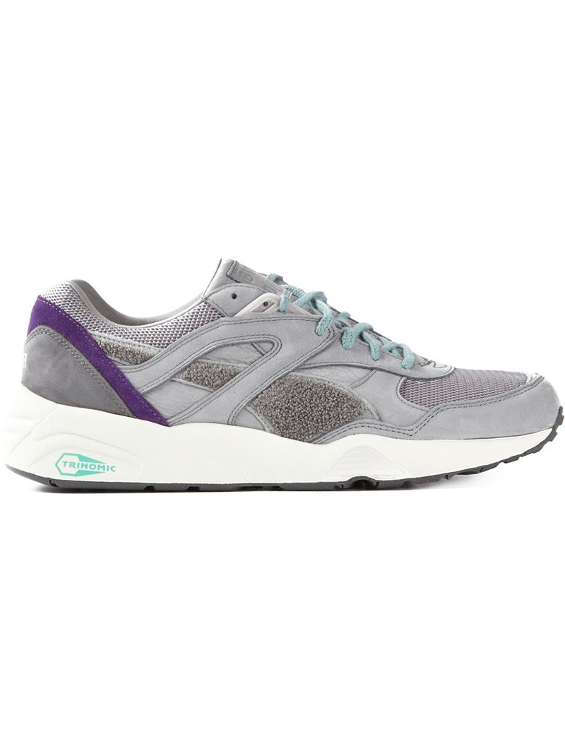 puma bwgh x 39 trinomic r698 39 sneakers in gray for men lyst. Black Bedroom Furniture Sets. Home Design Ideas