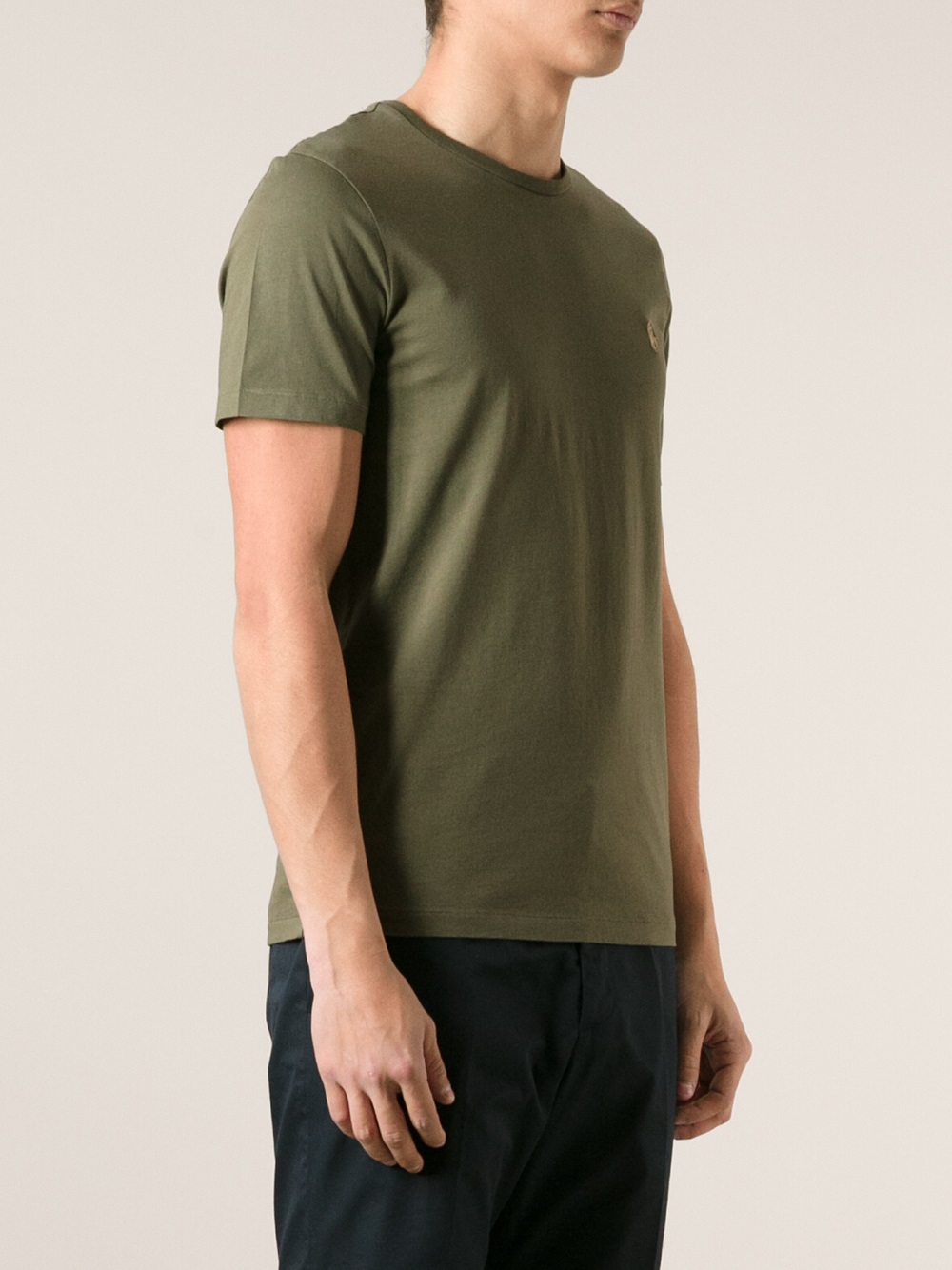 lyst polo ralph lauren custom fit tshirt in green for men. Black Bedroom Furniture Sets. Home Design Ideas