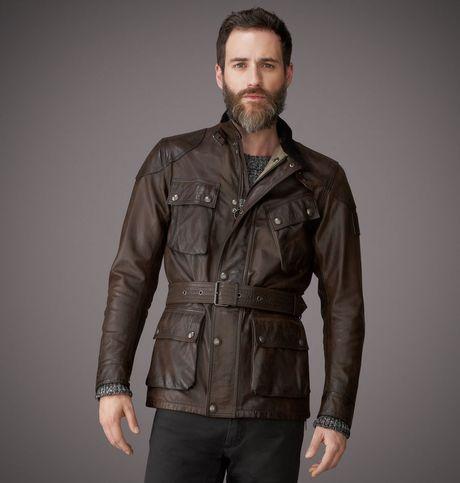 belstaff the panther jacket in brown for men black brown lyst. Black Bedroom Furniture Sets. Home Design Ideas
