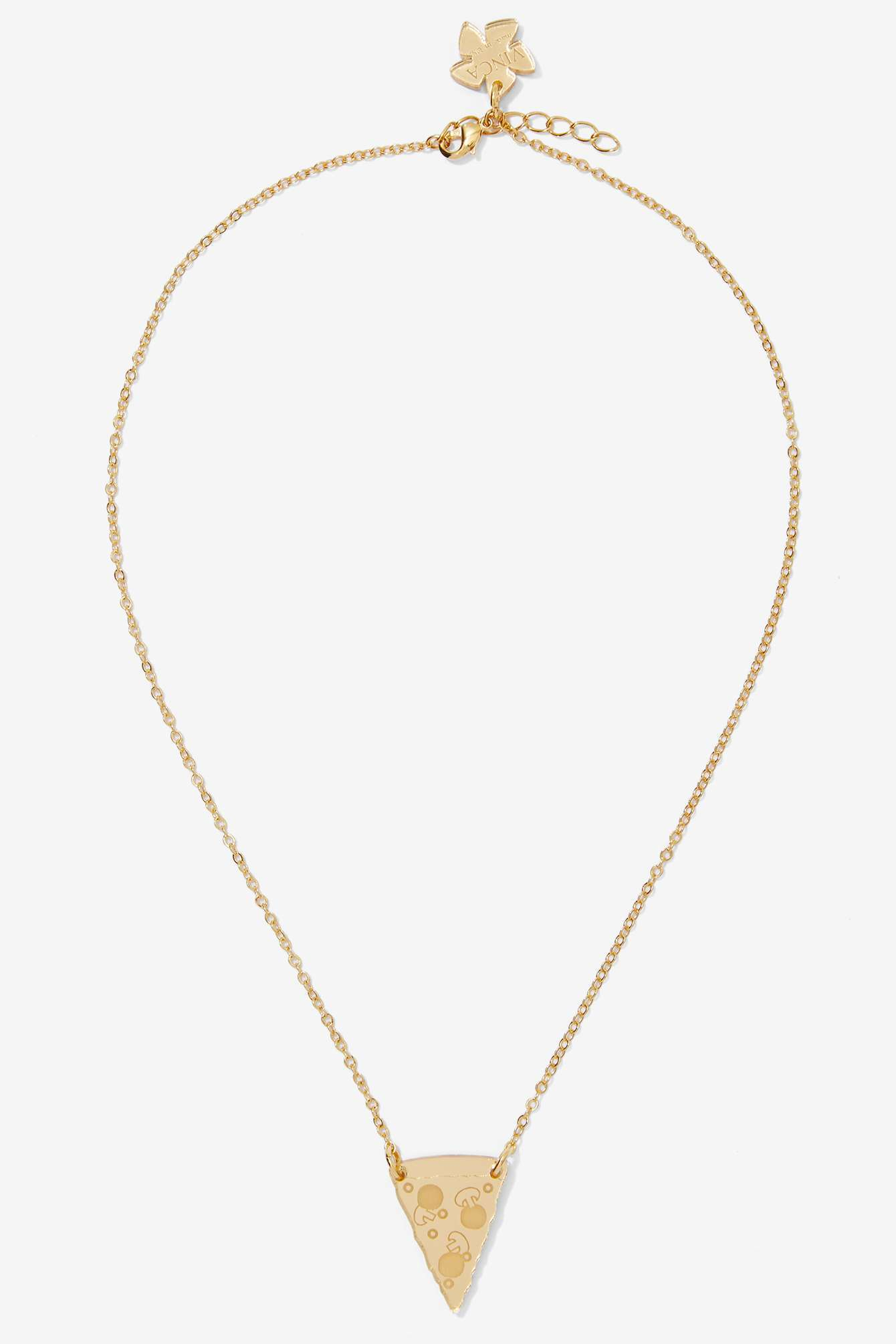 Lyst Nasty Gal Vinca Home Slice Gold Pizza Necklace In