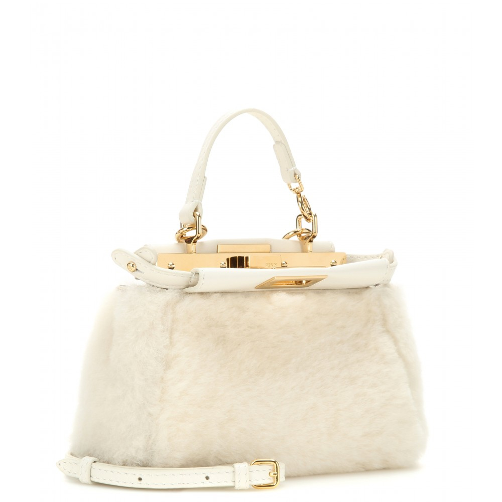 06451c8256 Gallery. Previously sold at  Mytheresa · Women s Shearling Bags Women s Fendi  Peekaboo ...
