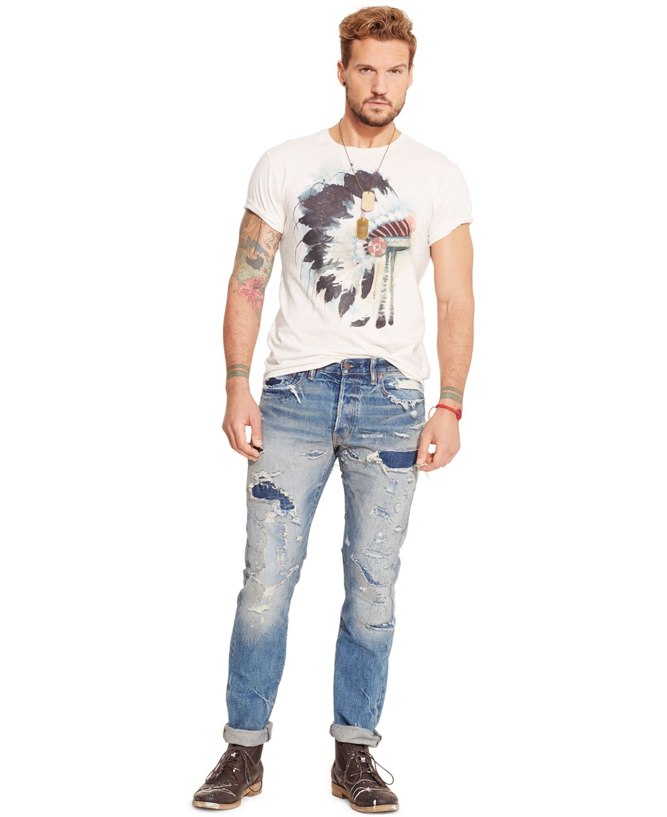 762c924198 Lyst - Denim   Supply Ralph Lauren Watercolor Graphic T-shirt in ...