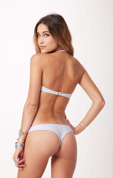 Tori Praver Swimwear Little Kalani Bikini Bottom In Gray