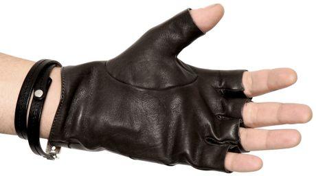 Fingerless Leather Gloves Men Leather Fingerless Gloves