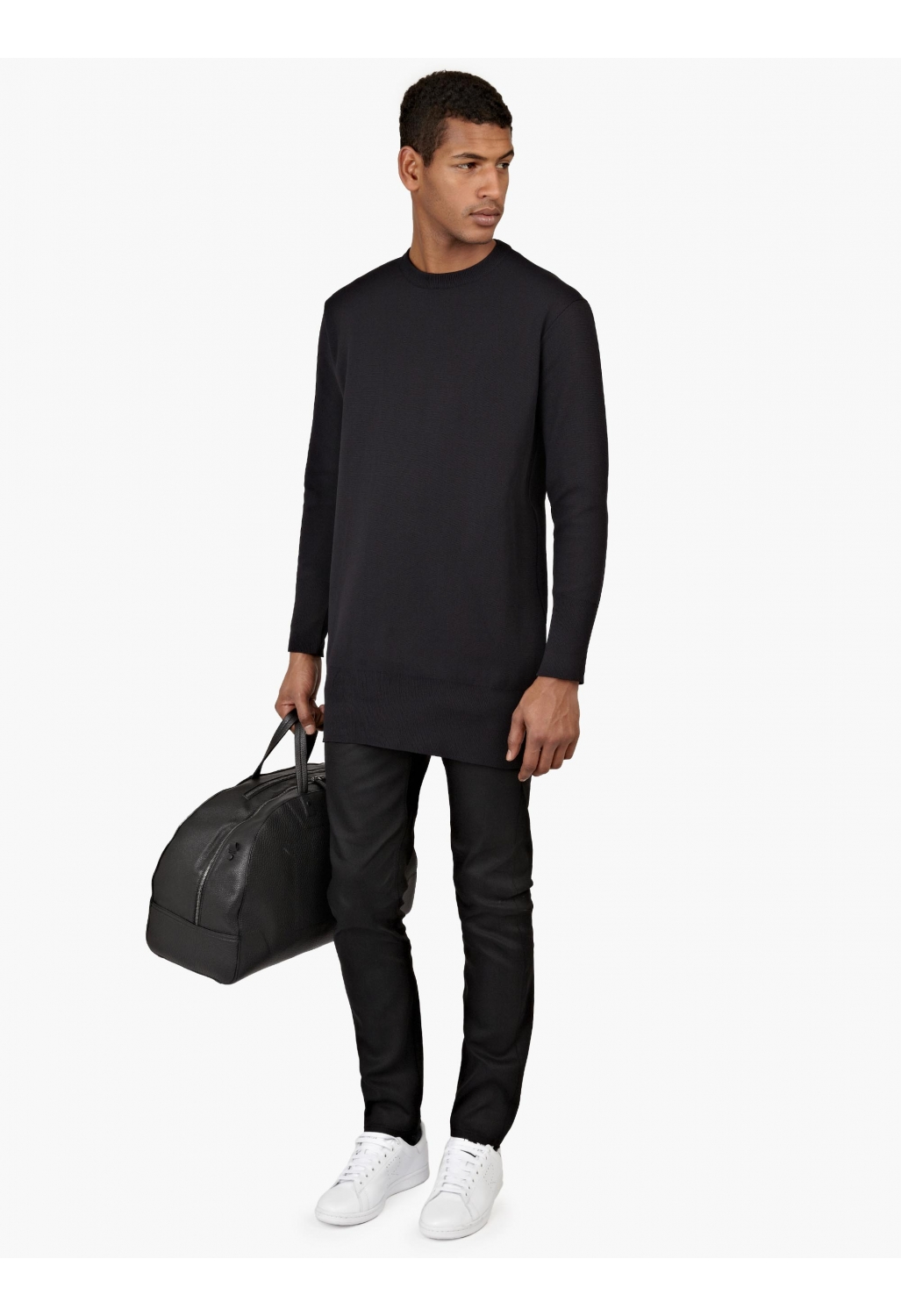 jil sander black longline sweatshirt in blue for men lyst. Black Bedroom Furniture Sets. Home Design Ideas