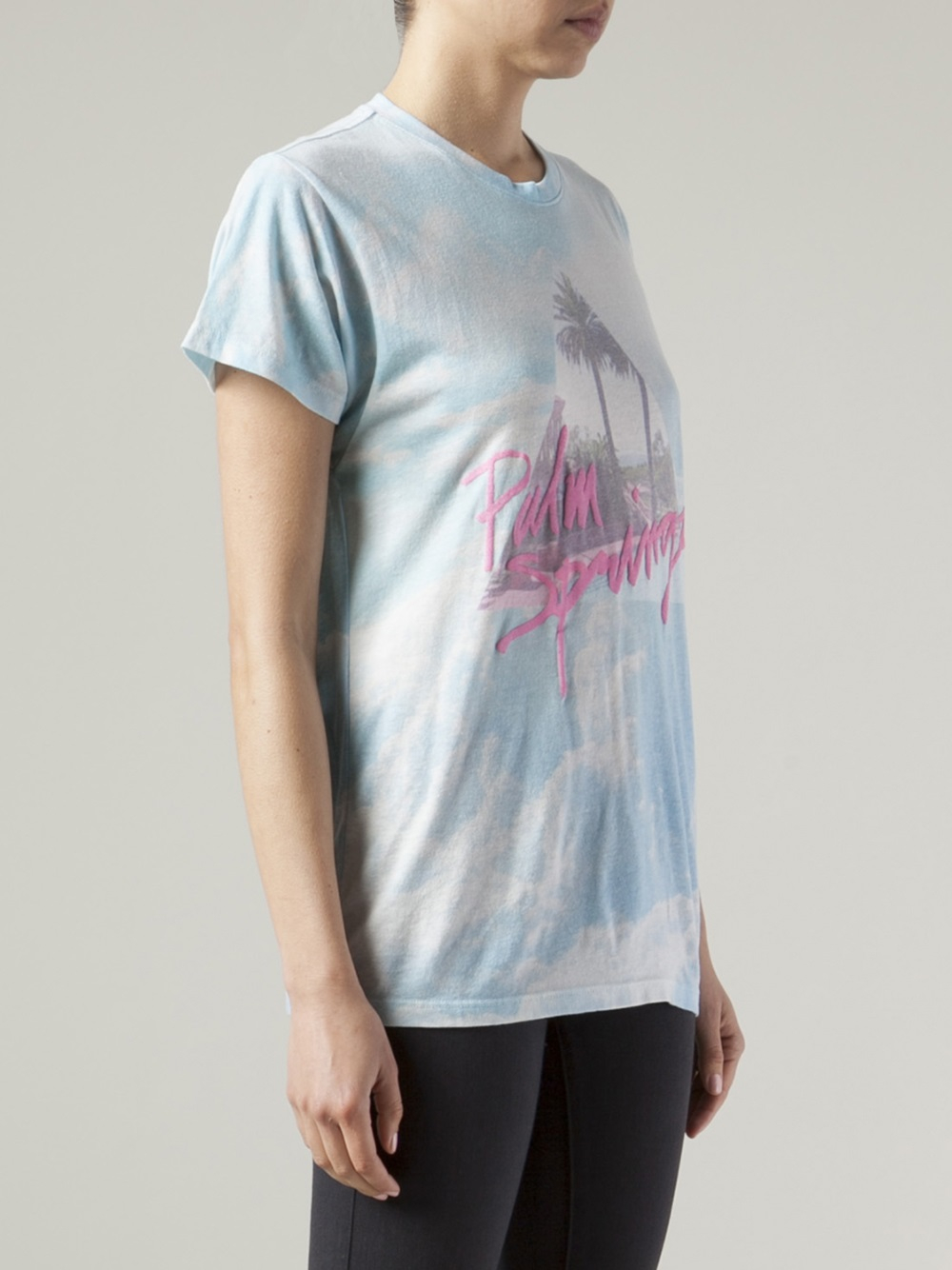 Wildfox palm springs t shirt in multicolor multicolour for T shirt city palm springs