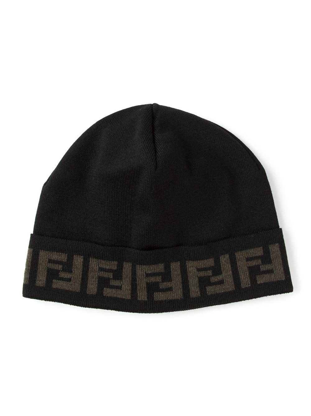 Ff Logo Tuque - Fendi Noir EXR6F