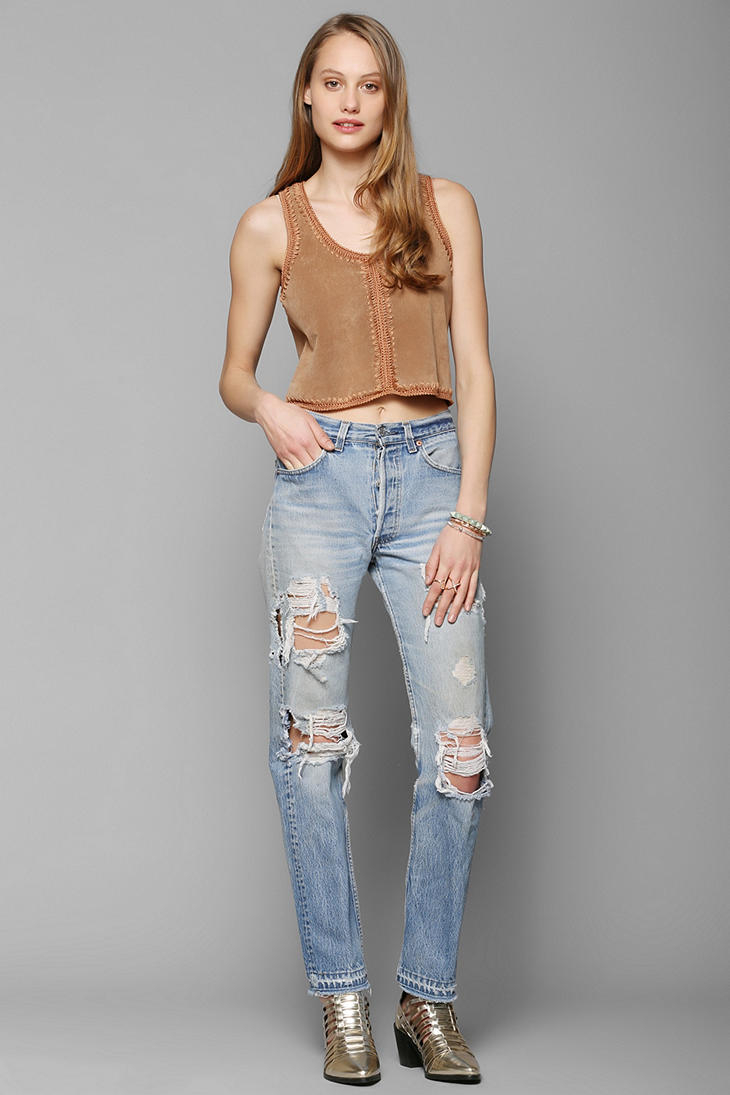 Urban renewal Levi's Super-destroyed Jean in Blue | Lyst
