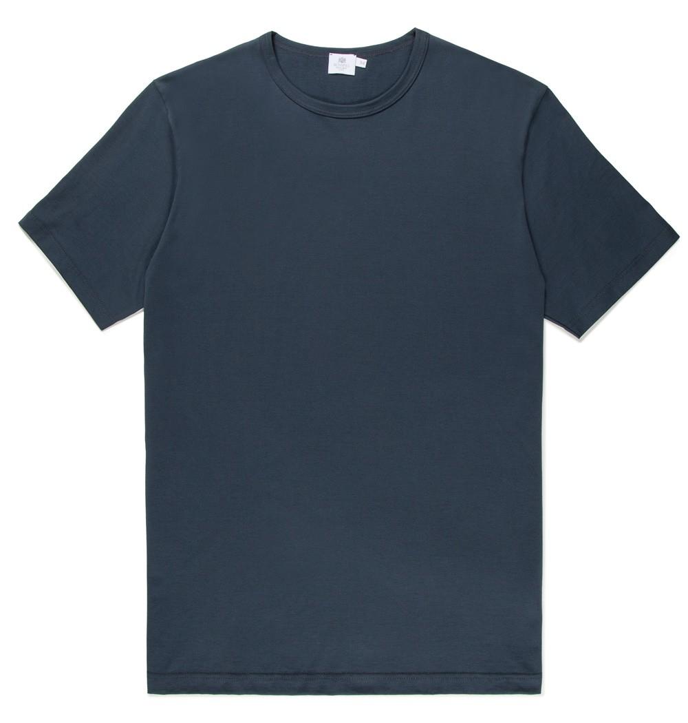lyst sunspel men 39 s long staple cotton classic t shirt in