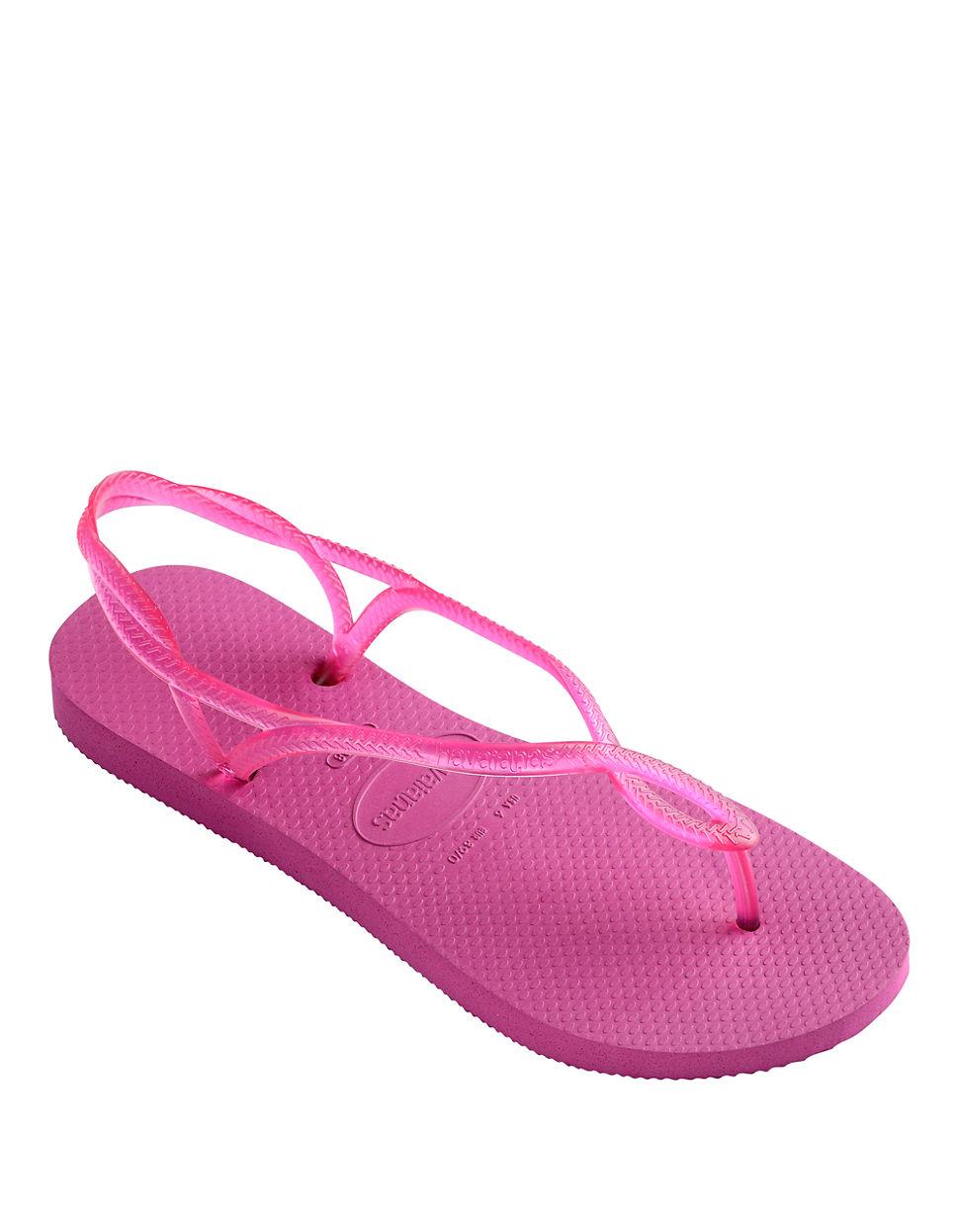 a5f51881017 Havaianas Luna Sandal Flip-Flops in Pink - Lyst