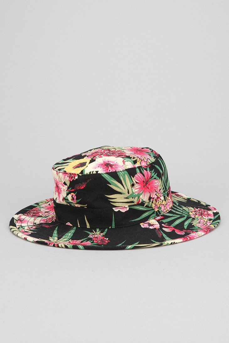 fd1eb3ce694 Lyst - Obey Boonts Floral Widebrim Bucket Hat for Men