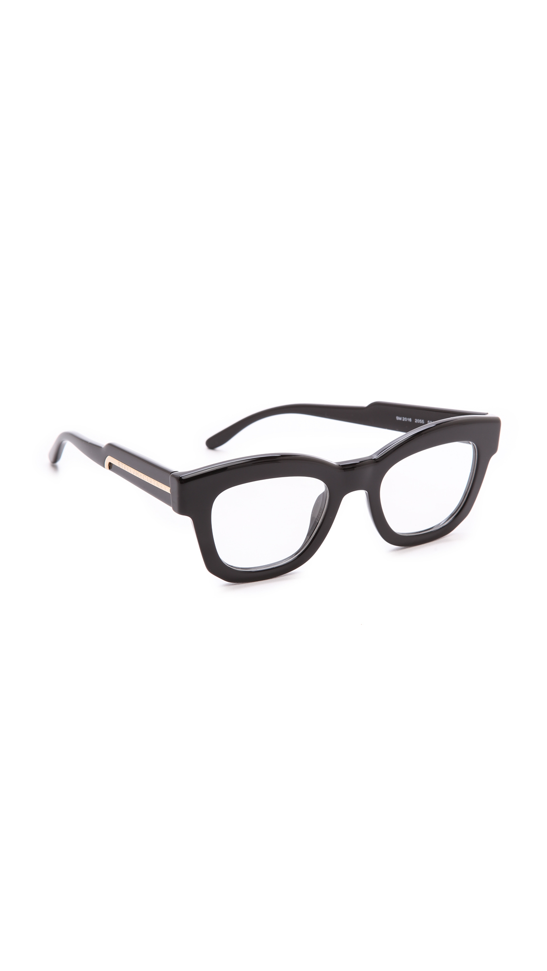 Thick Frame Glasses Black : Stella Mccartney Thick Frame Glasses - Brown in Black Lyst