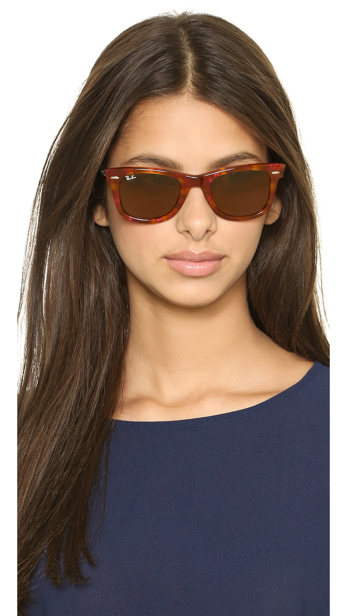 ray ban havana clubmaster  Ray-ban Icons Wayfarer Sunglasses - Spotted Black Havana/Black in ...