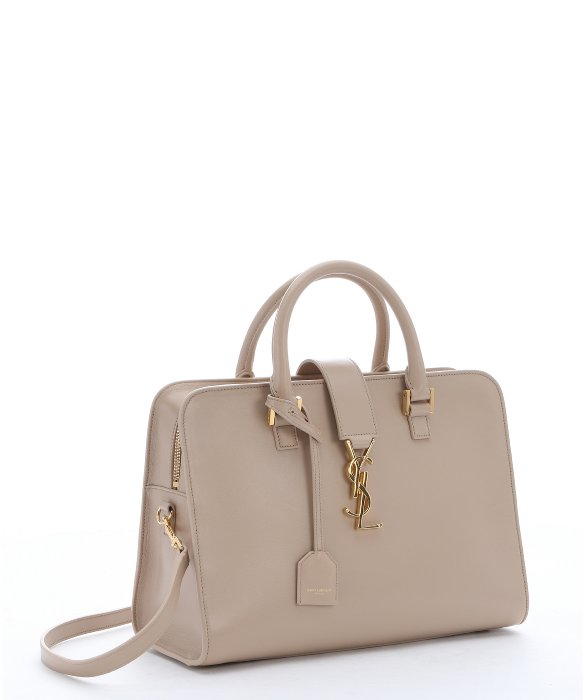 ysl wallets online - small cabas rive gauche bag in beige grained leather