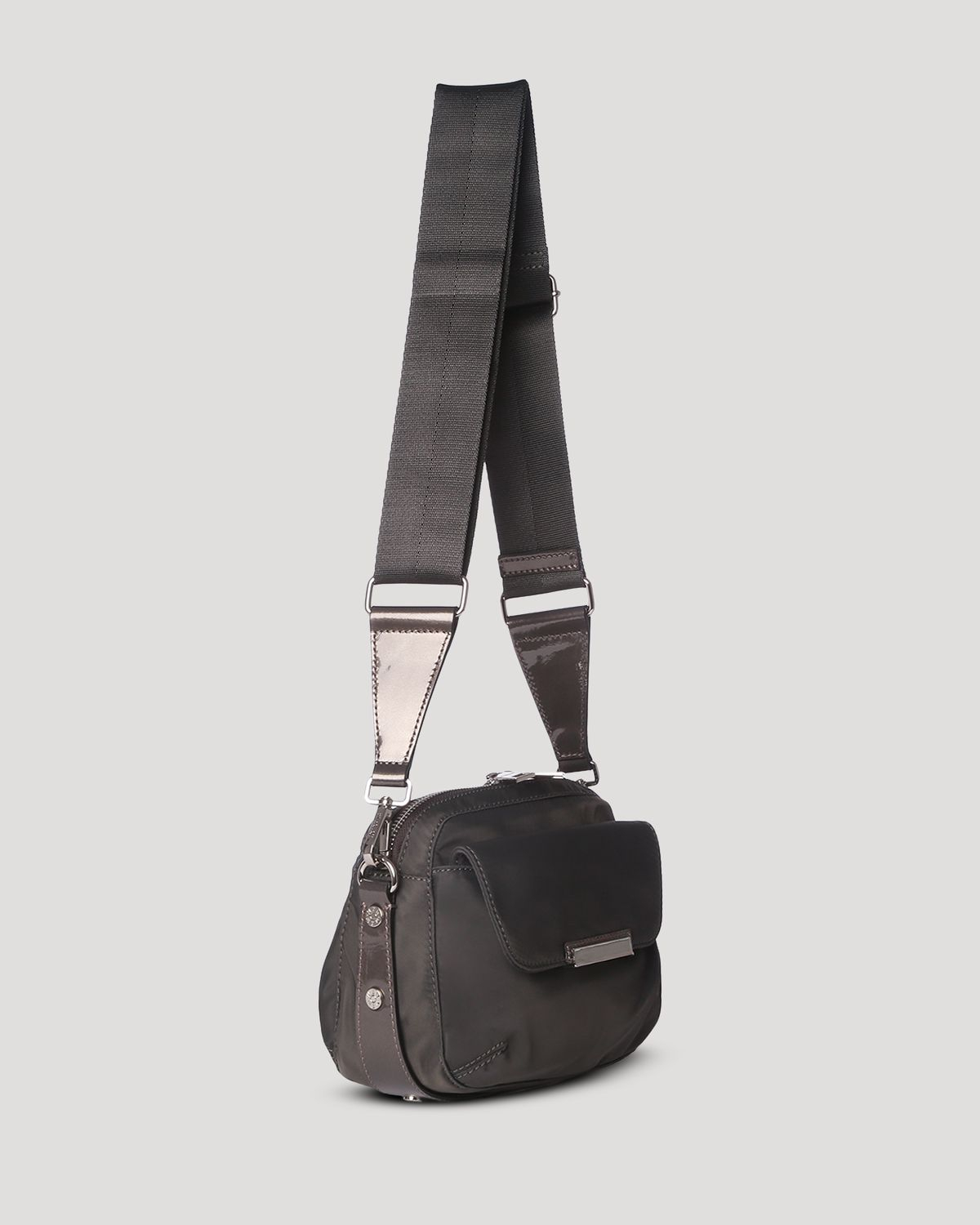 MZ Wallace Convertible Crossbody - Cleo Small Bedford in Steel (Grey)