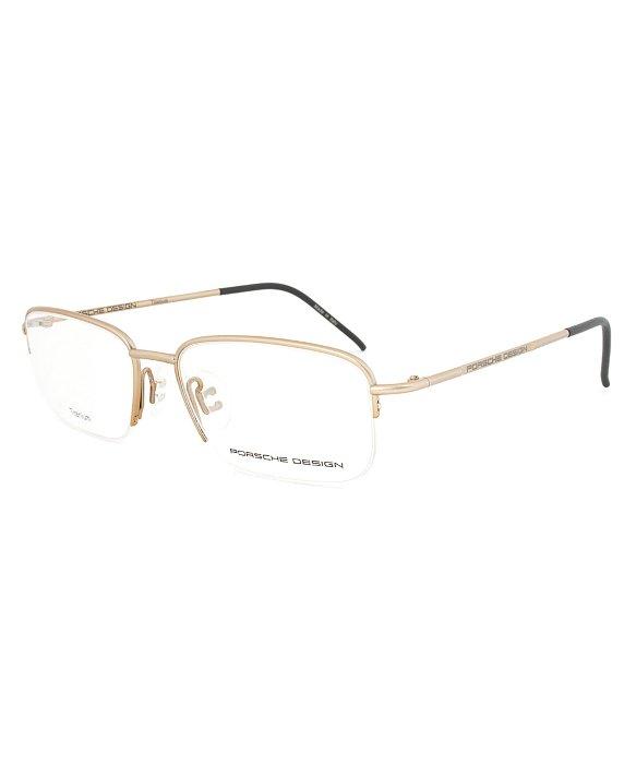 Eyeglass Frame Size Markings : Porsche design Design P8198 B Titanium Gold Eyeglasses ...