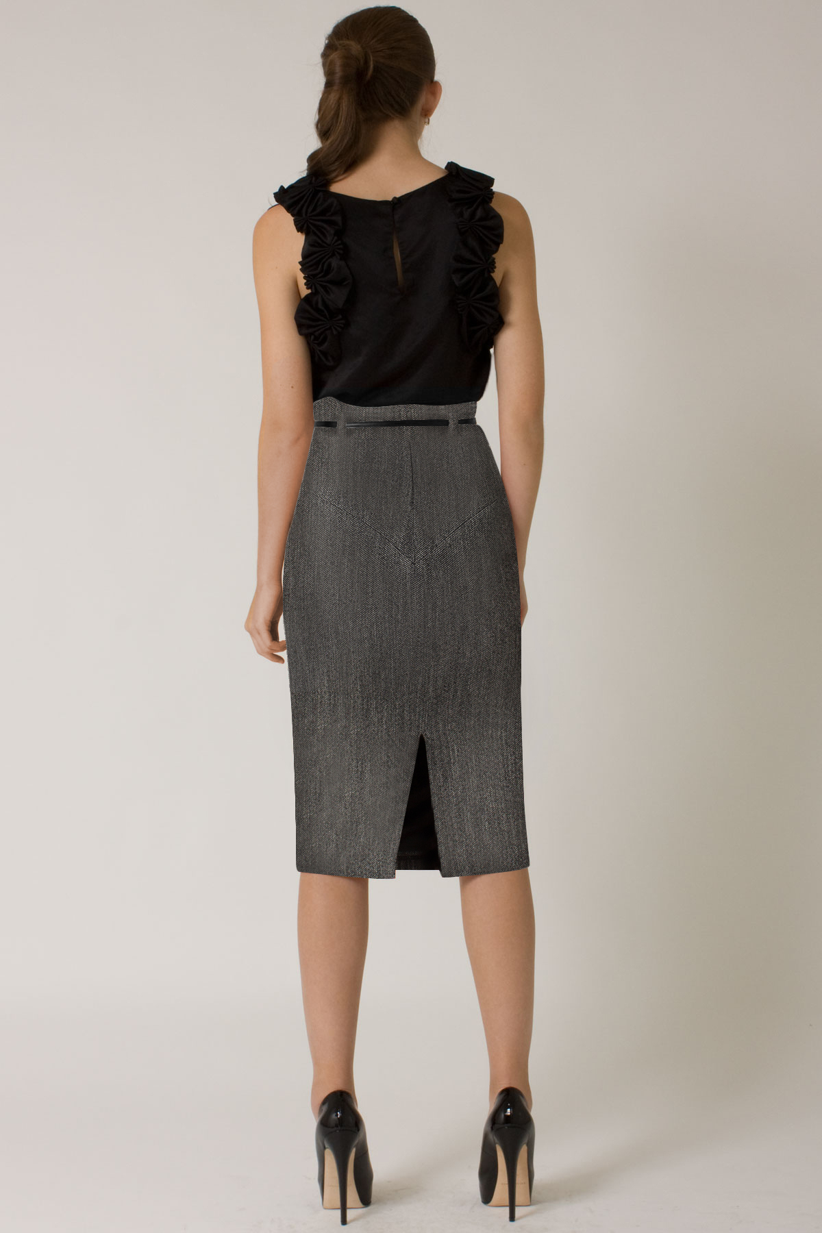 d33a93812b Black Halo High Waist Tweed Pencil Skirt  online Exclusive  in Blue ...