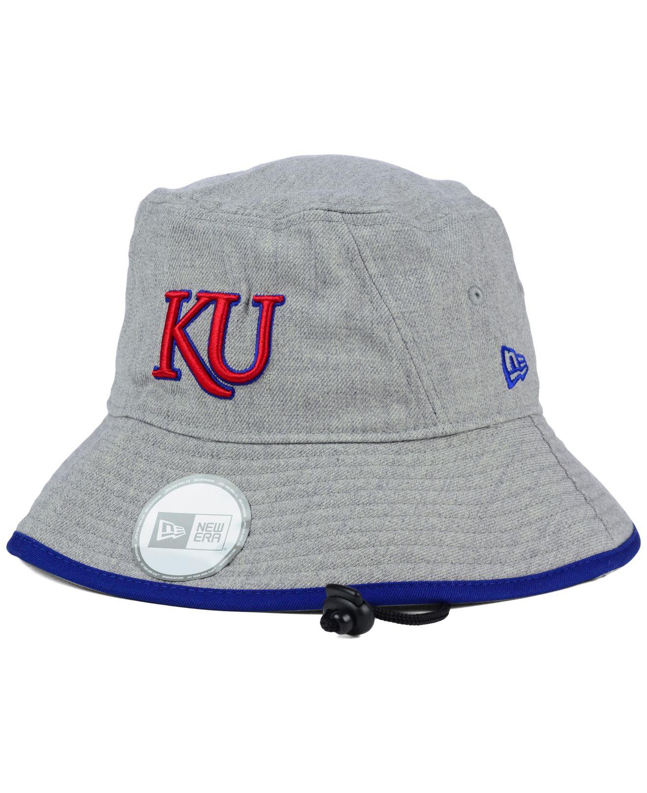 Lyst - KTZ Kansas Jayhawks Tip Bucket Hat in Gray f0e0680243f