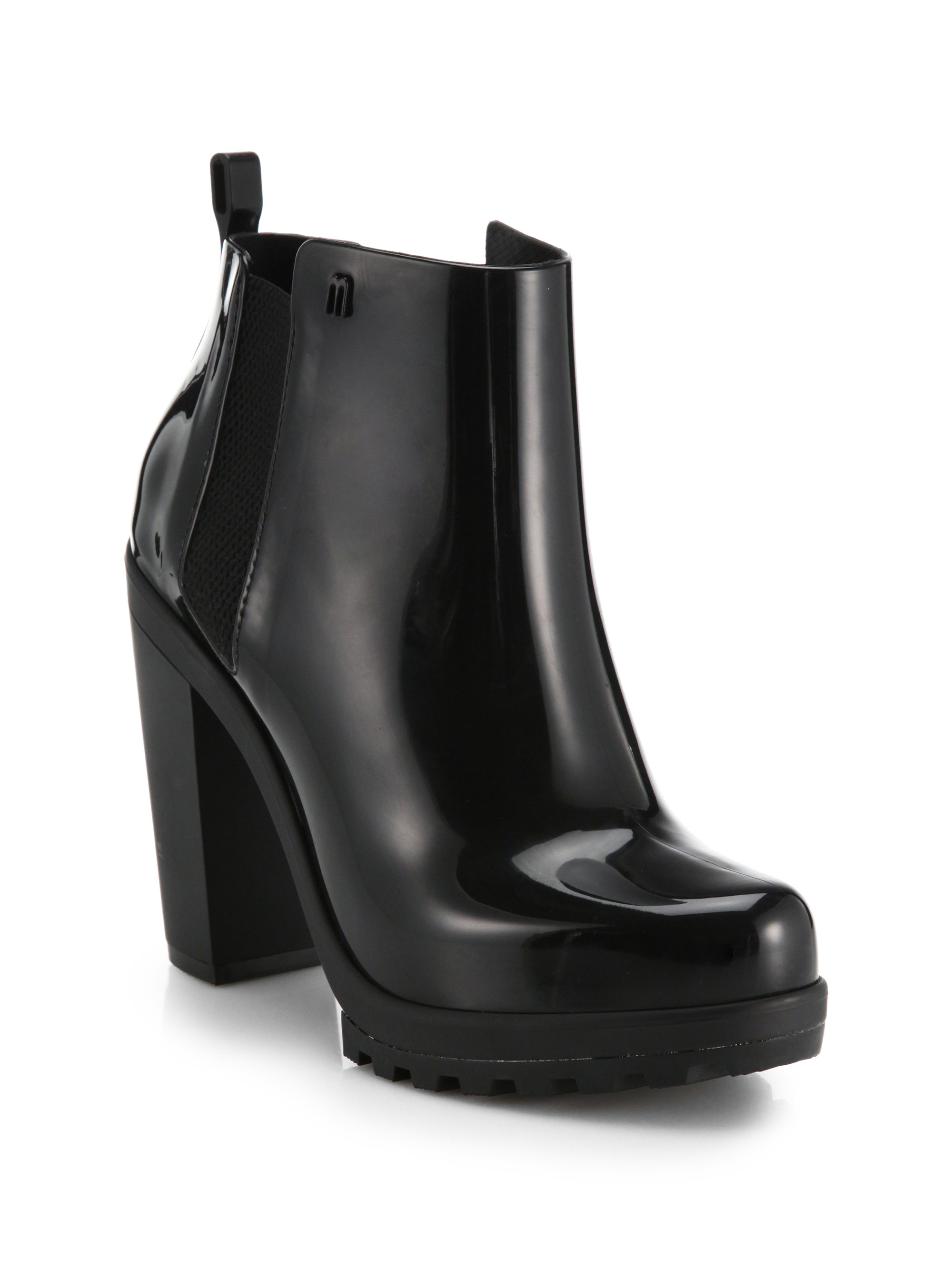 Melissa Soldier Ankle Boots in Black - Lyst