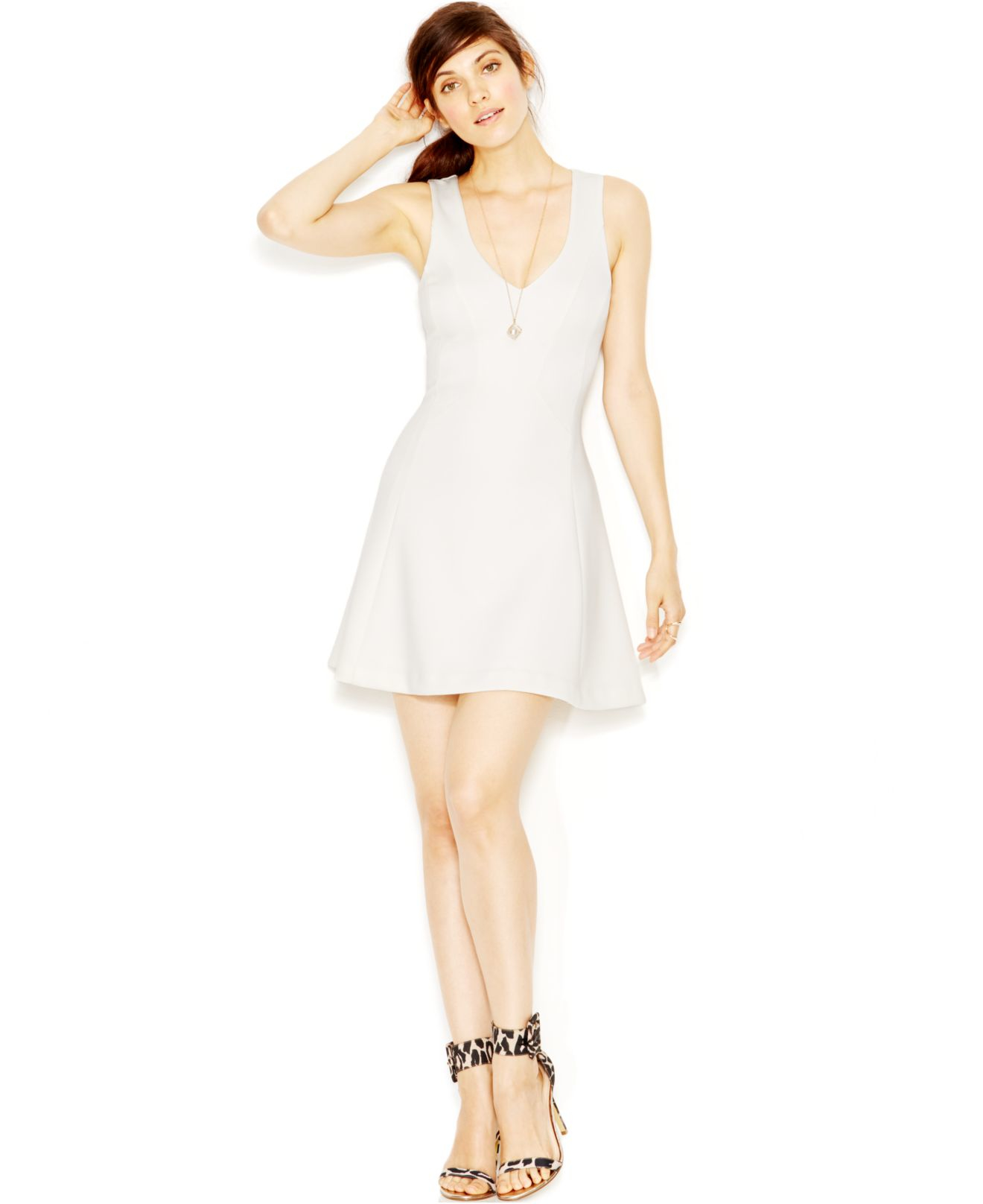 White Fit and Flare Dress