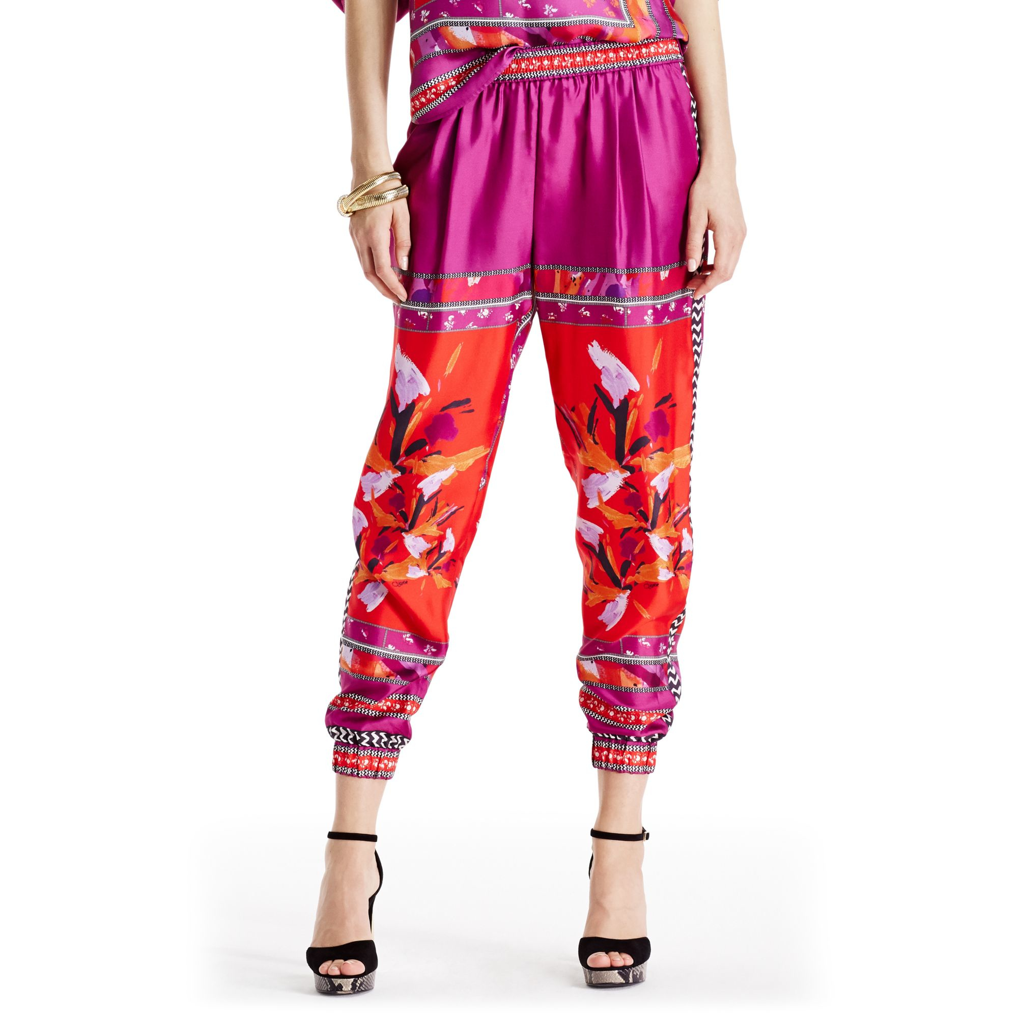 Outlet From China Discount Eastbay High-waisted silk-blend trousers Diane Von Fürstenberg yRpjv2GF