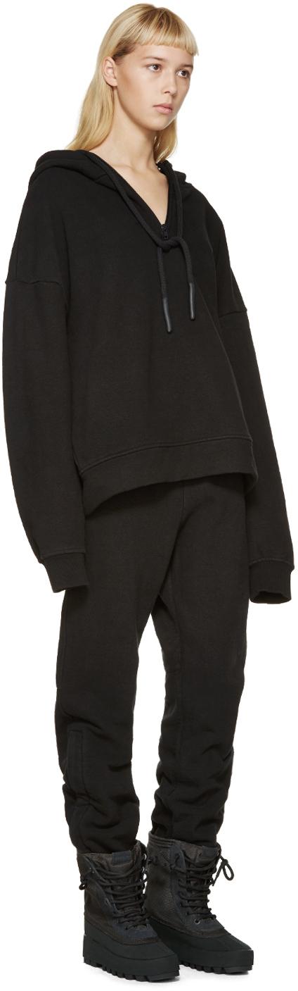 yeezy black half zip hoodie in black lyst. Black Bedroom Furniture Sets. Home Design Ideas